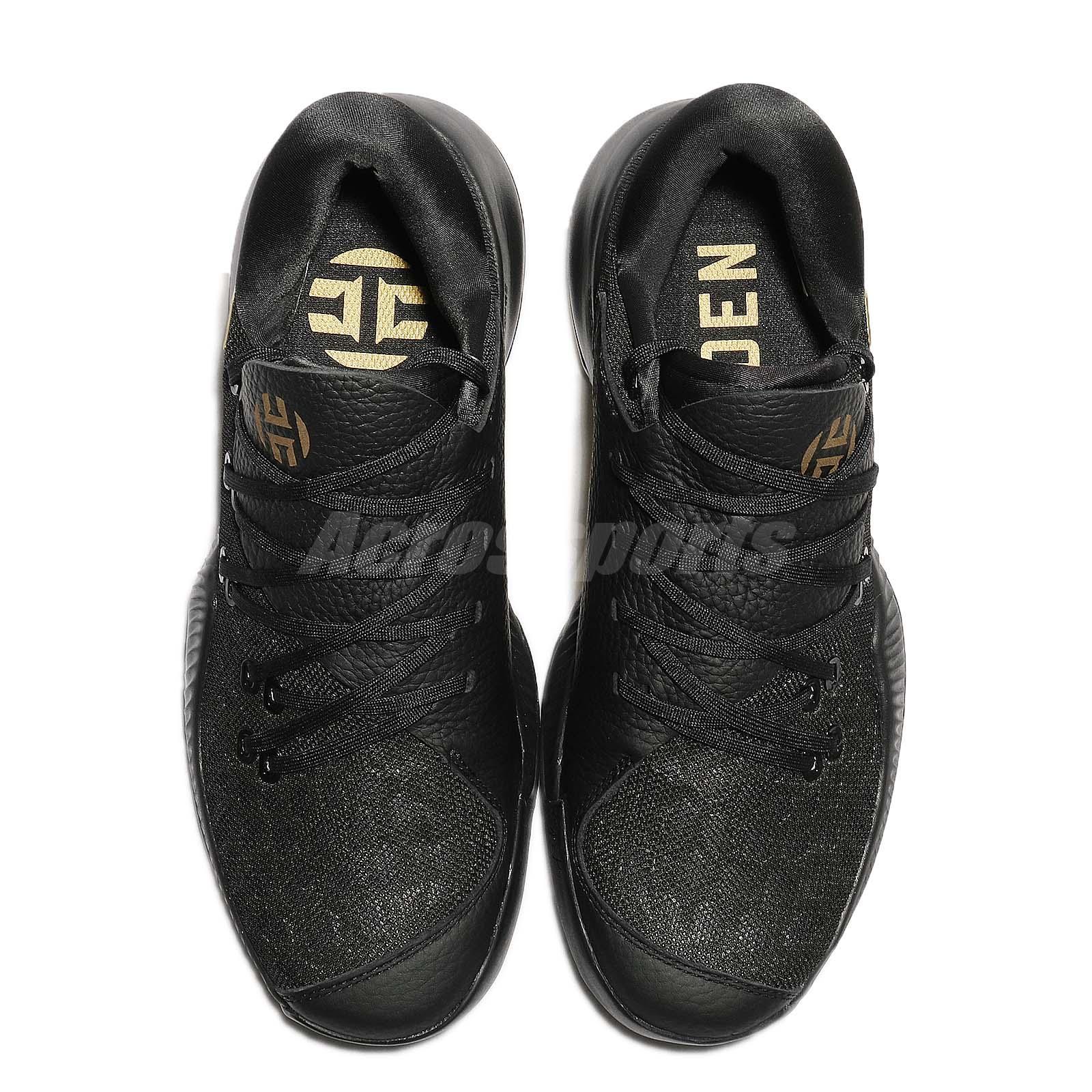 James Harden Gold Shoes: Adidas Harden B/E James Bounce Black Gold Men Basketball