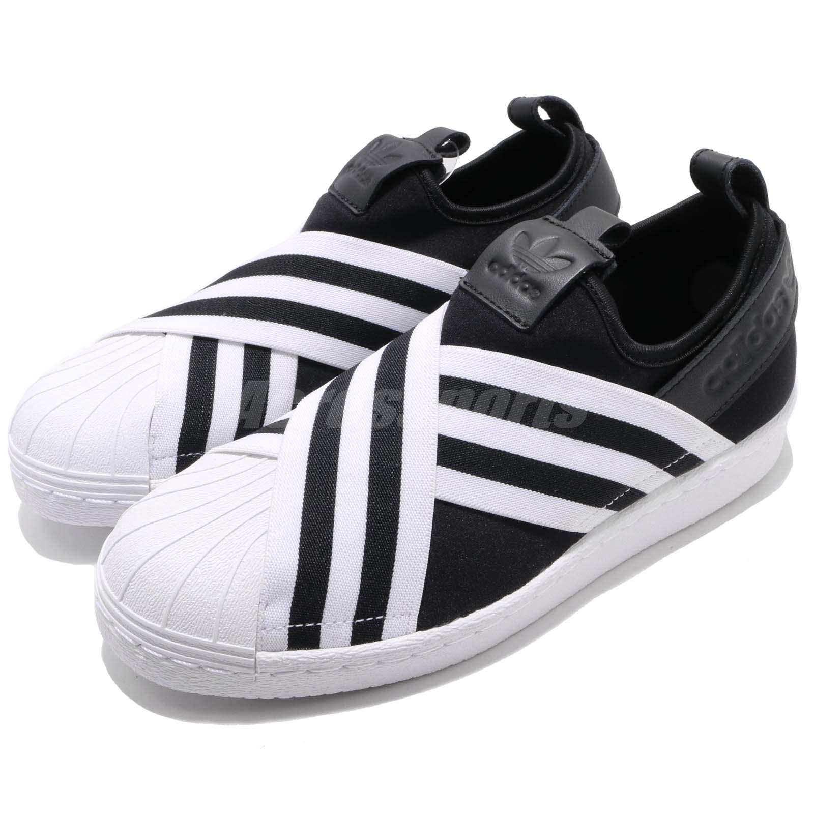 Details about adidas Originals Superstar Slip On W Core Black Cloud White  Women Shoes AC8582 92a42f281