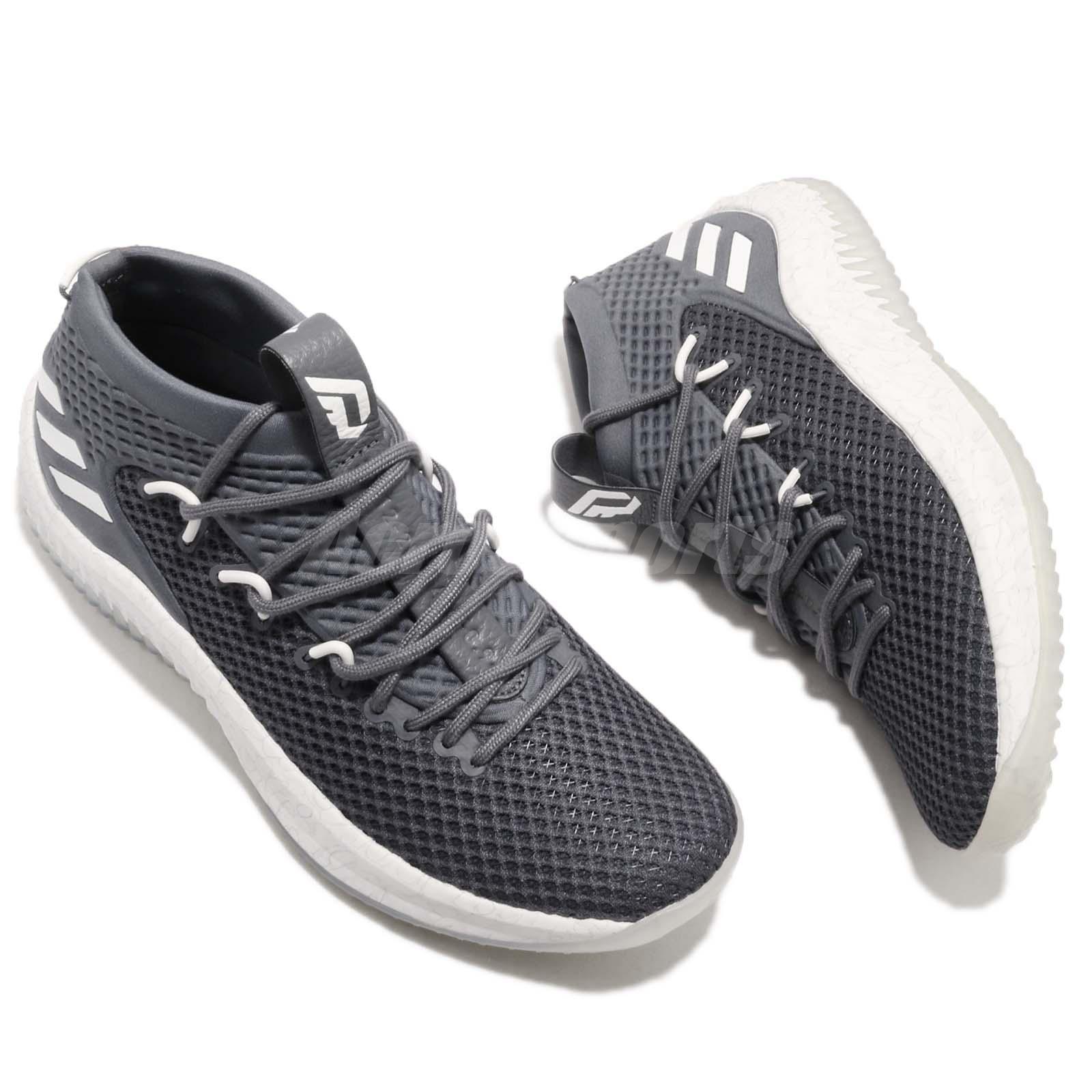 best loved 9b9a6 c55ac adidas Dame 4 Damian Lillard Onix Grey White Men Basketball