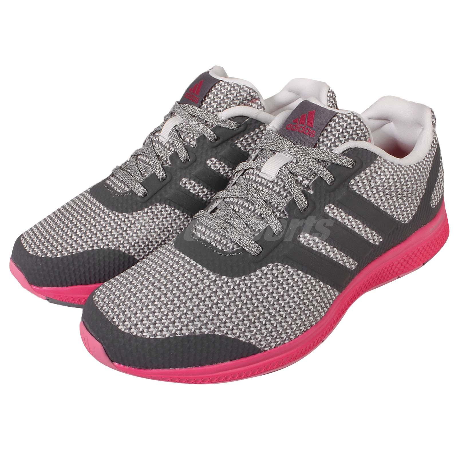 adidas Mana Bounce W Grey Pink Womens Running Shoes Trainers Sneakers AF4116