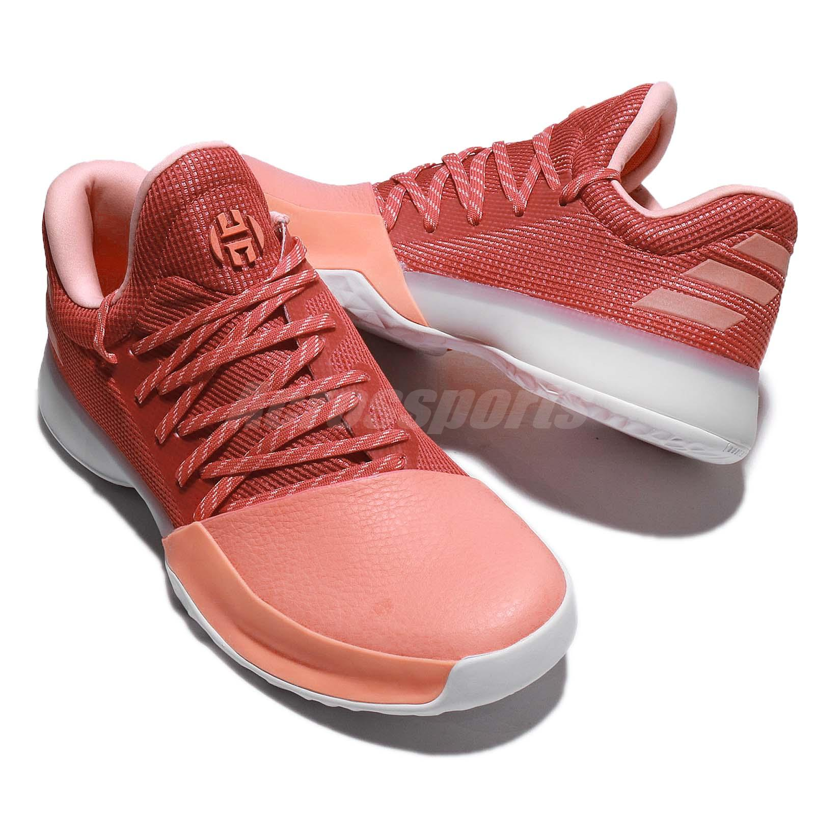 95fa7a1755f 1 men basketball shoes ... all size 4eb38 01109 adidas Harden Vol. 1 Chalk  Coral Scarlet Two ...