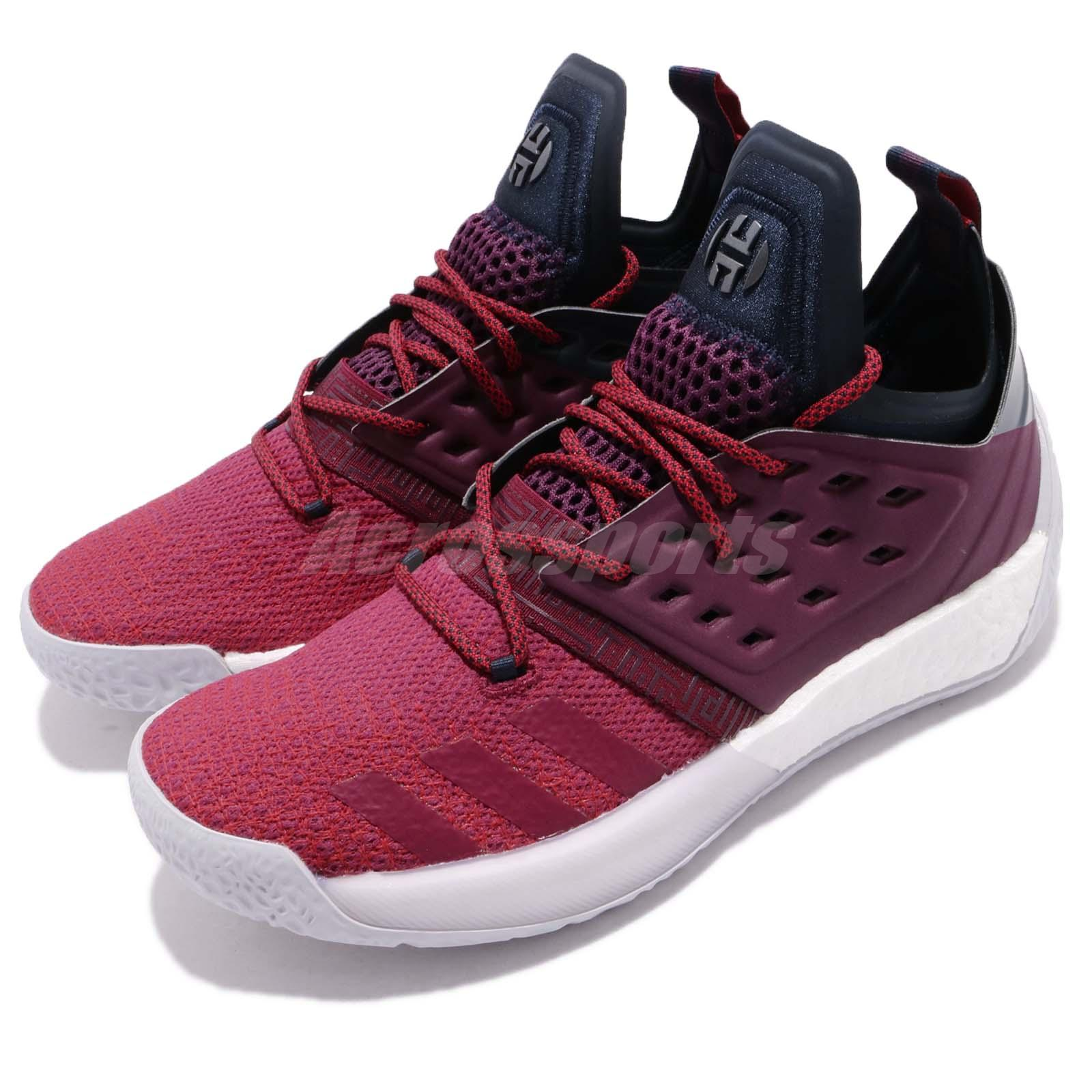 adidas harden vol 2 ignite ii james harden maroon red men basketball ah2124 ebay. Black Bedroom Furniture Sets. Home Design Ideas