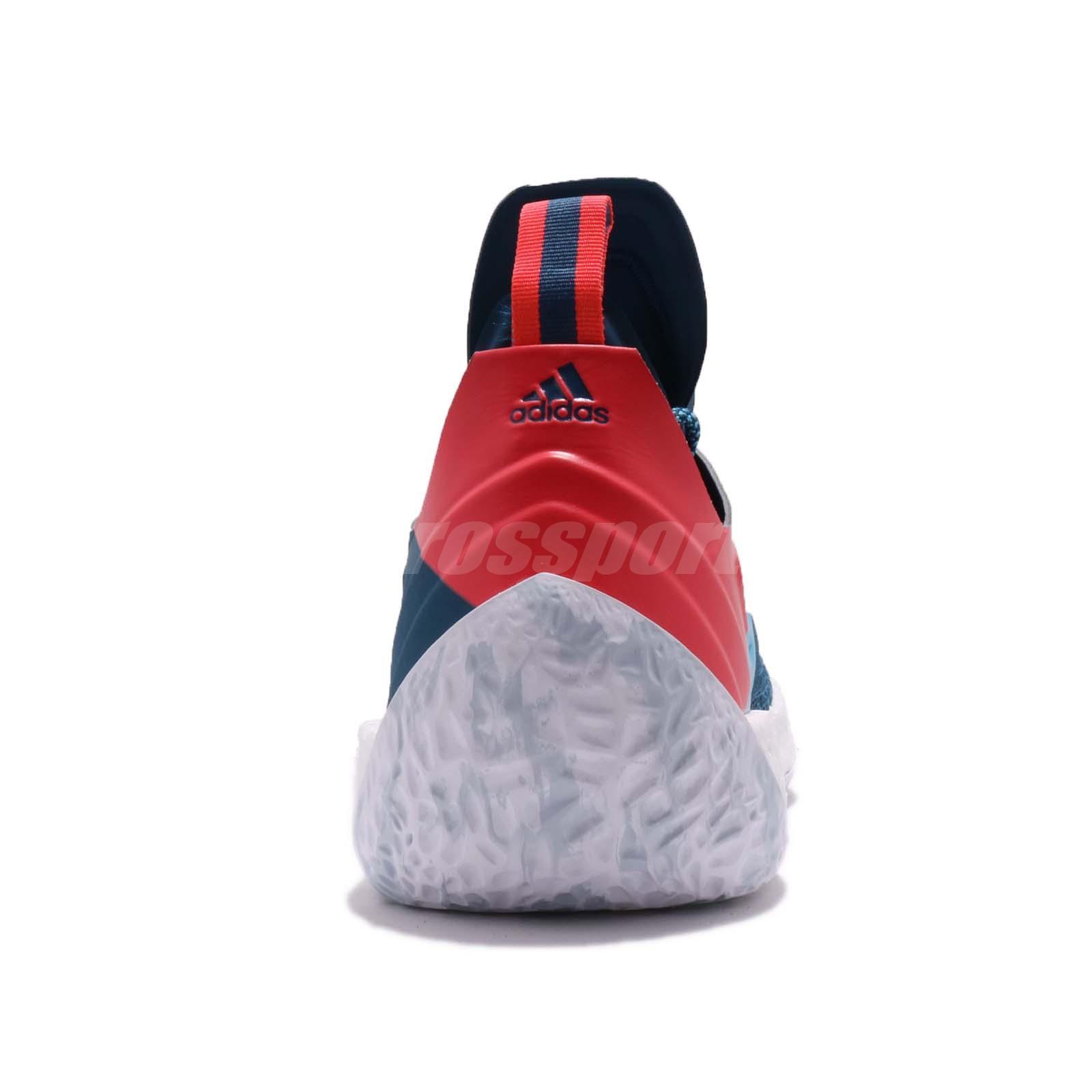 adidas Harden Vol.2 James Step Back Blue Night Shock Red Men ... b6767e814