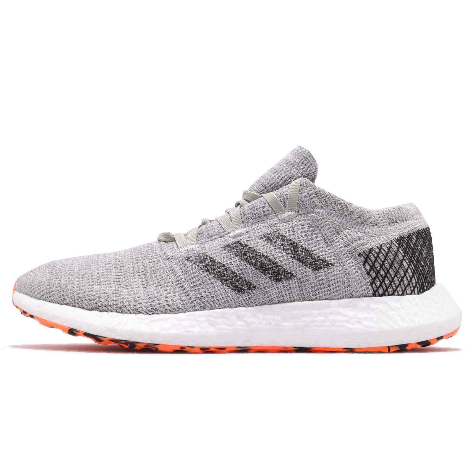 6801eab9dce93 adidas PureBOOST Go Grey Black Hi-Res Orange Men Running Shoes Sneakers  AH2324