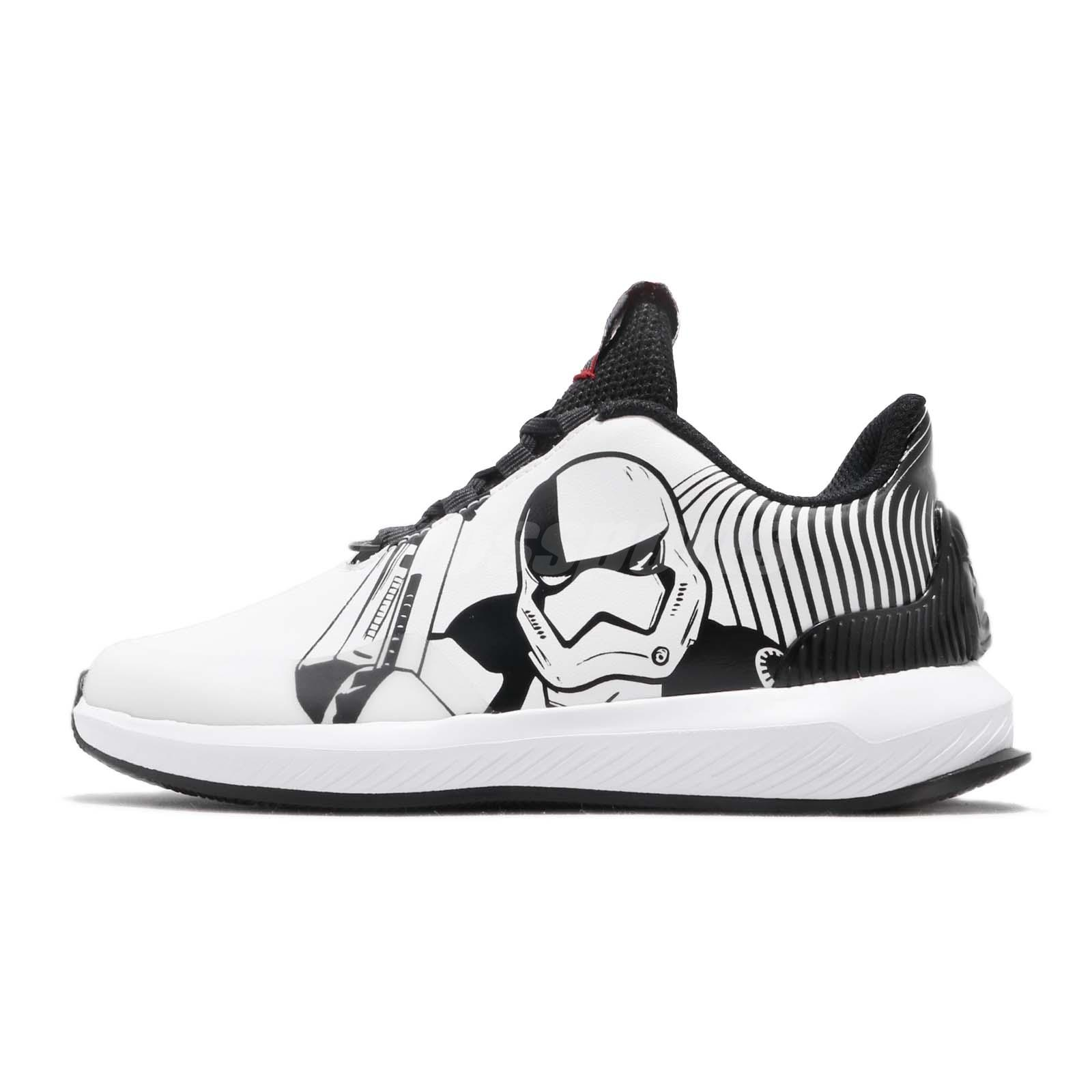 61b9431af adidas RapidaRun Star Wars K Black White Scarlet Kid Preschool Shoes AH2466