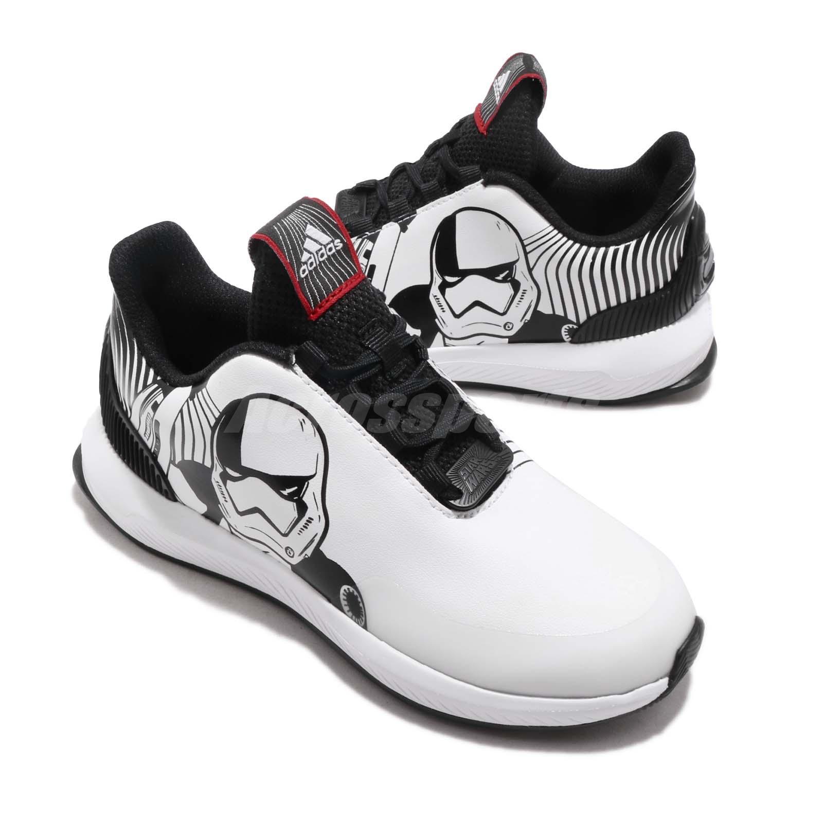 d6922c3d3 adidas RapidaRun Star Wars K Black White Scarlet Kid Preschool Shoes ...