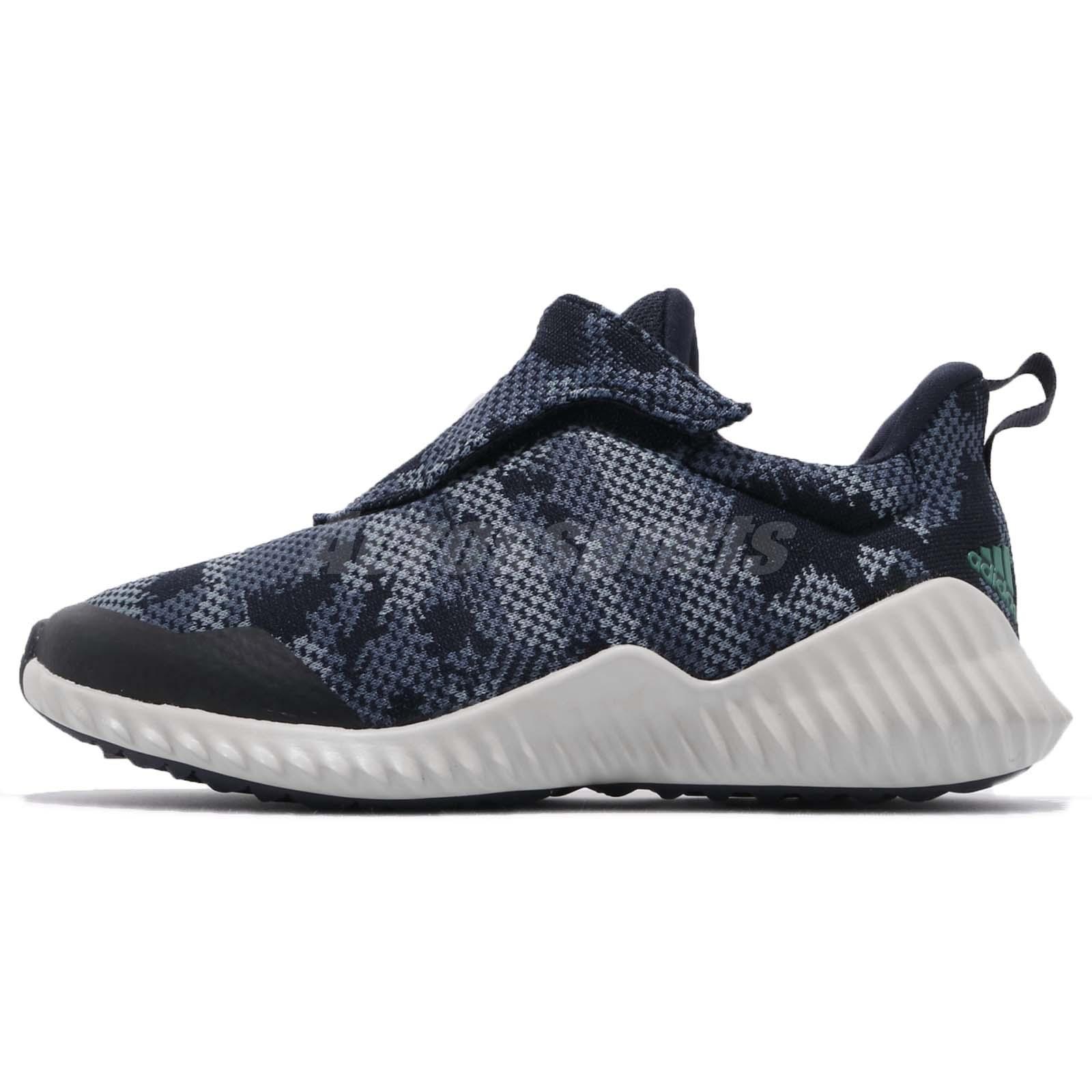 reputable site 8330f 1aa8d adidas FortaRun AC K Blue Grey Navy Kid Preschool Slip On Shoes Sneakers  AH2629
