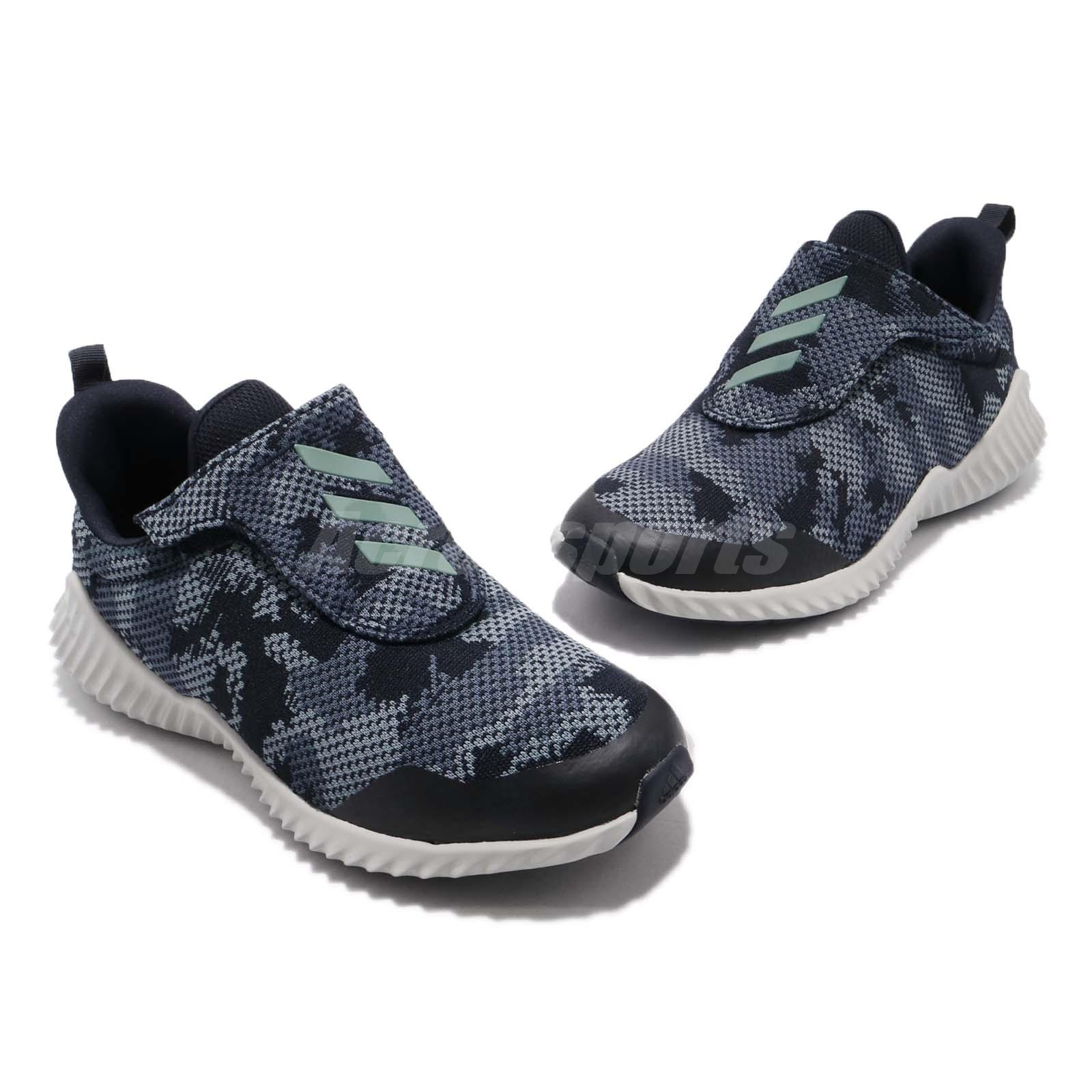 factory authentic 211eb 5c77c adidas FortaRun AC K Blue Grey Navy Kid Preschool Slip On Sh