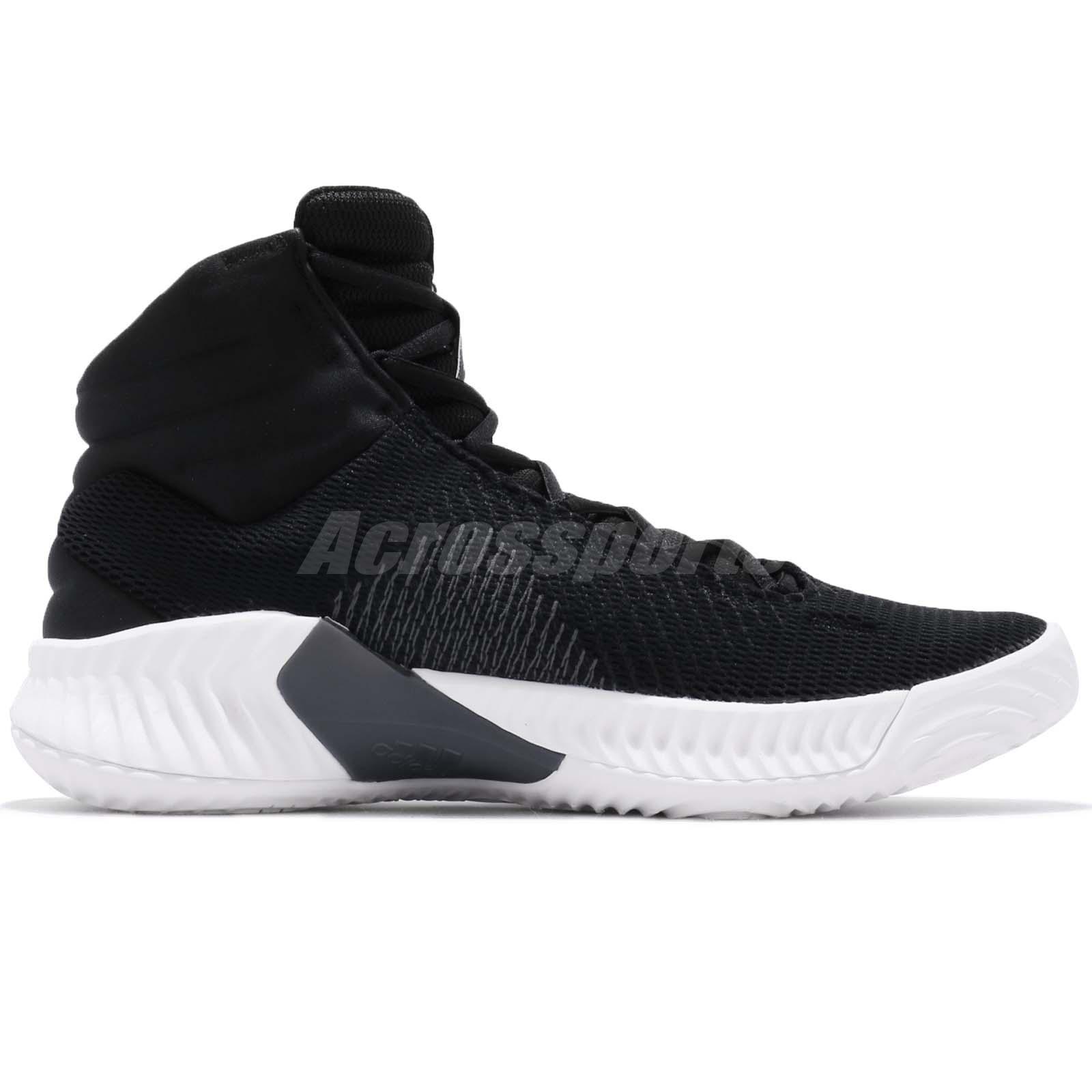 9a196fdd7e2f7 adidas Pro Bounce 2018 Black Grey White Men Basketball Shoes ...