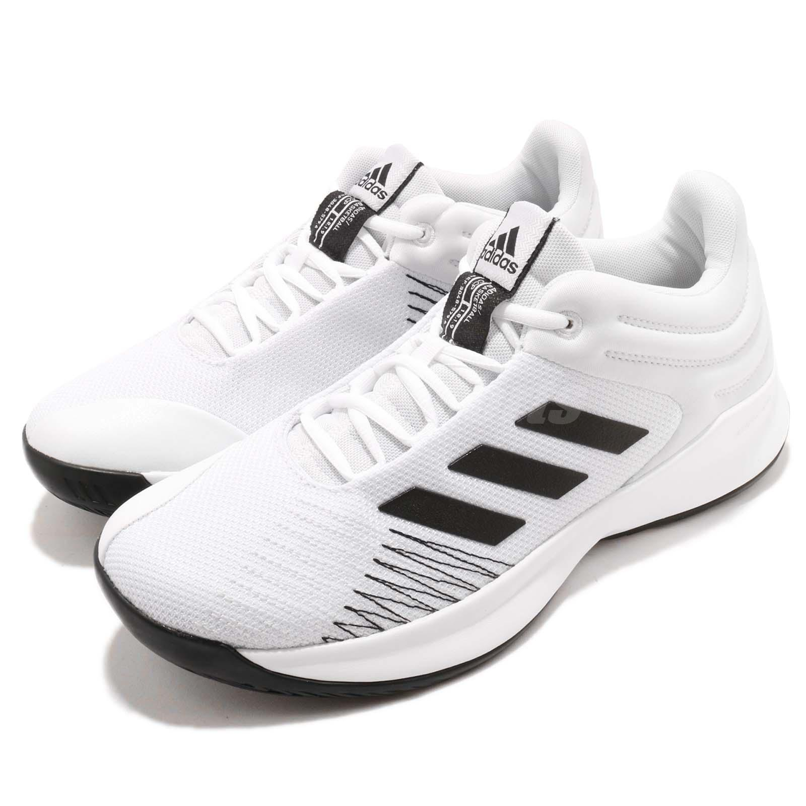 97d66c8a7260 Details about adidas Pro Spark Low 2018 White Black Men Basketball Shoes  Sneakers AP9838