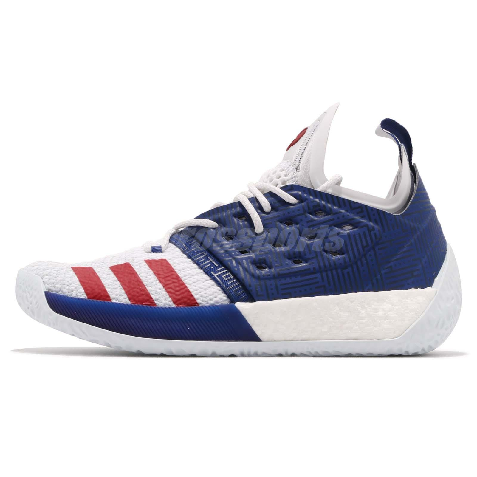 07851c07eca1 adidas Harden Vol. 2 II James USA Boost Blue Red White Men Shoes Sneakers  AQ0026