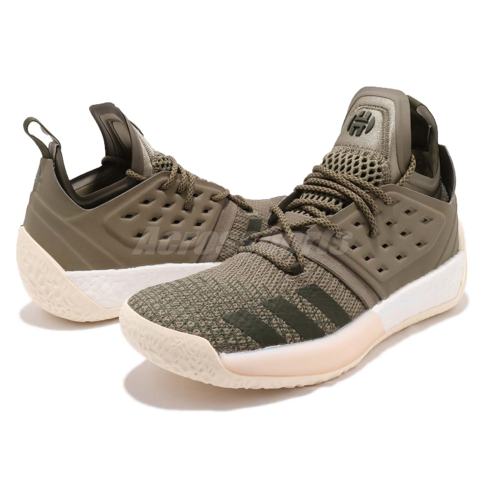 87beb73aaab Details about adidas Harden Vol. 2 James Boost Night Cargo Green Men  Basketball Shoes AQ0027