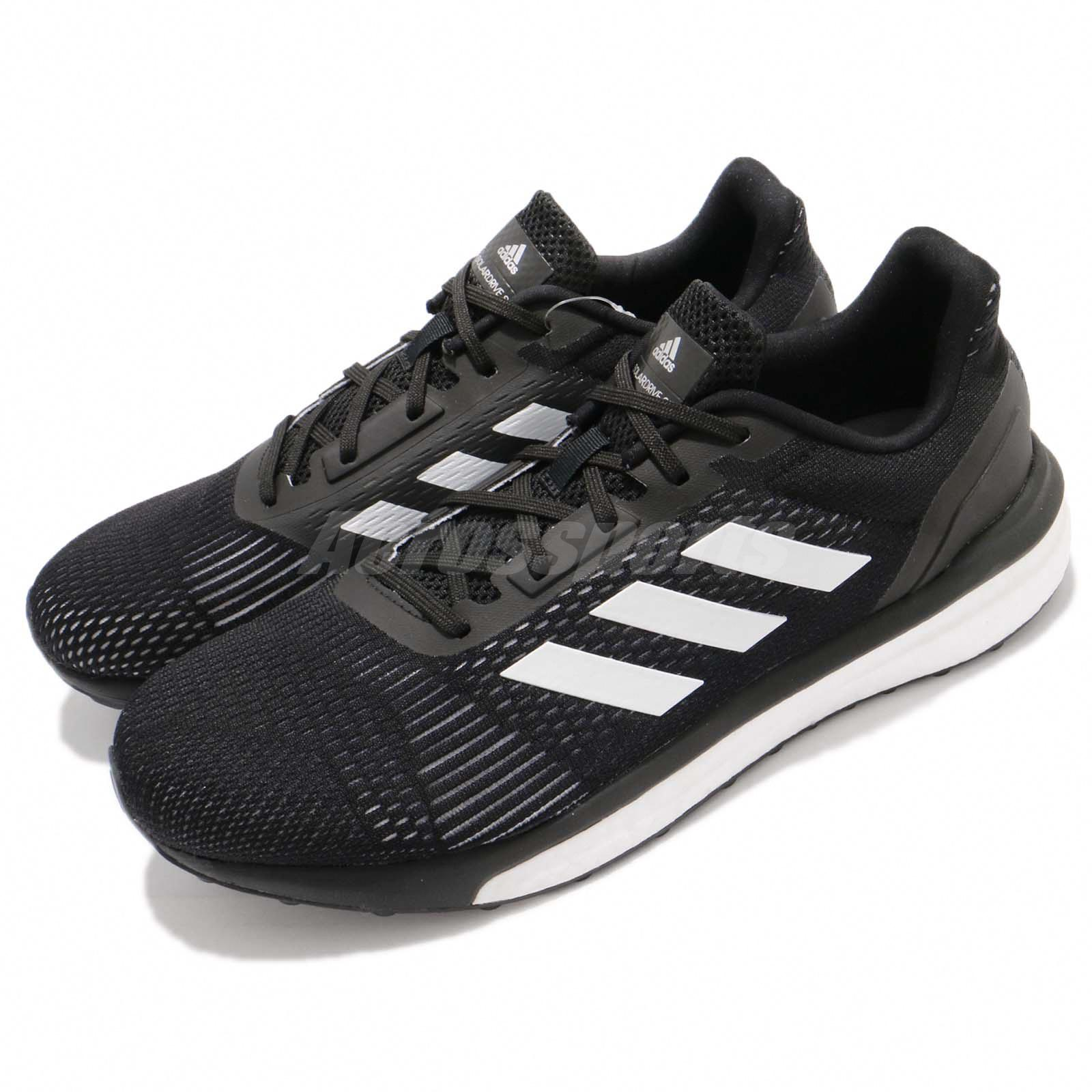 09d639539143 adidas Solar Drive ST M Boost Black White Men Running Training Shoes ...
