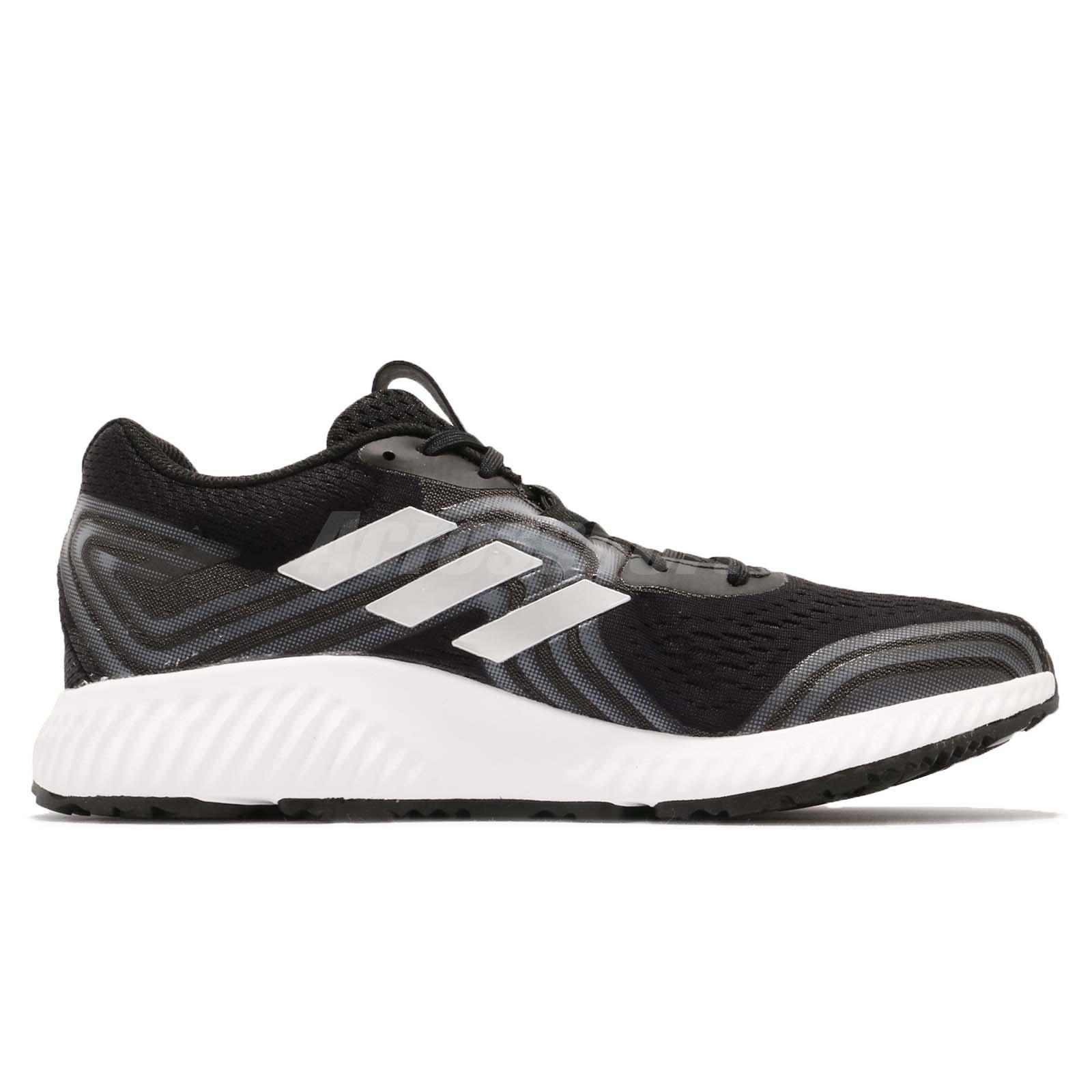 adidas Aerobounce 2 M Black Silver Aqua White Men Running Shoes ... 4f8a60b11
