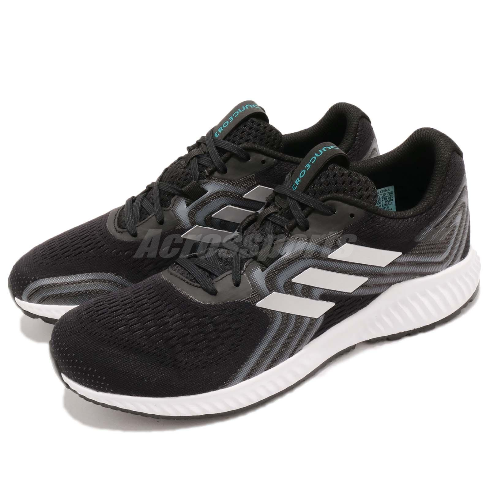pretty nice fc5cd 86bae Details about adidas Aerobounce 2 M Black Silver Aqua White Men Running  Shoes Sneakers AQ0536