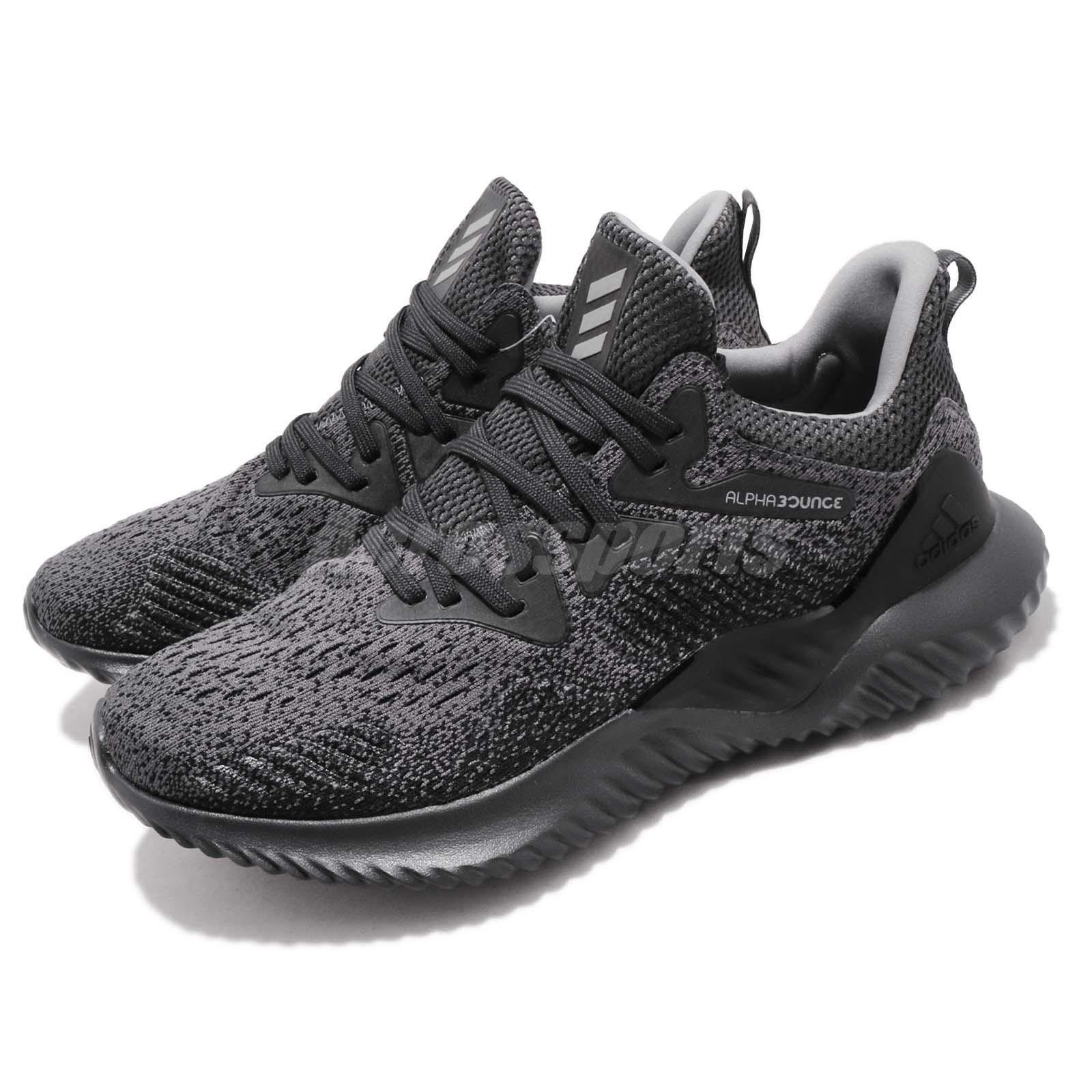 b65df0191a8a5 Details about adidas Alphabounce Beyond M Carbon Grey Men Running Training  Shoe Sneaker AQ0573