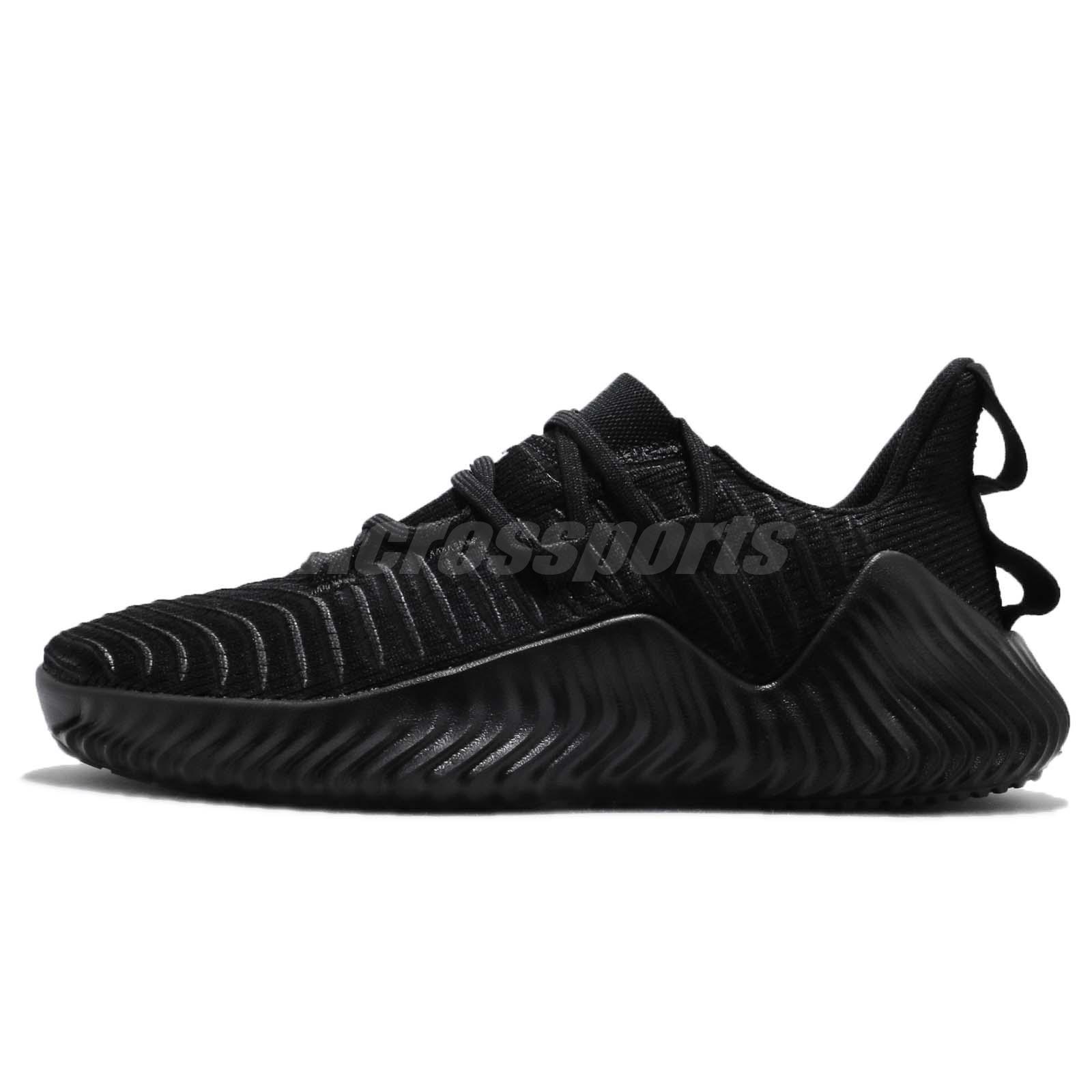 2a3da1becfe57 adidas Alphabounce Trainer Black Silver Men Cross Training Shoes Sneakers  AQ0609