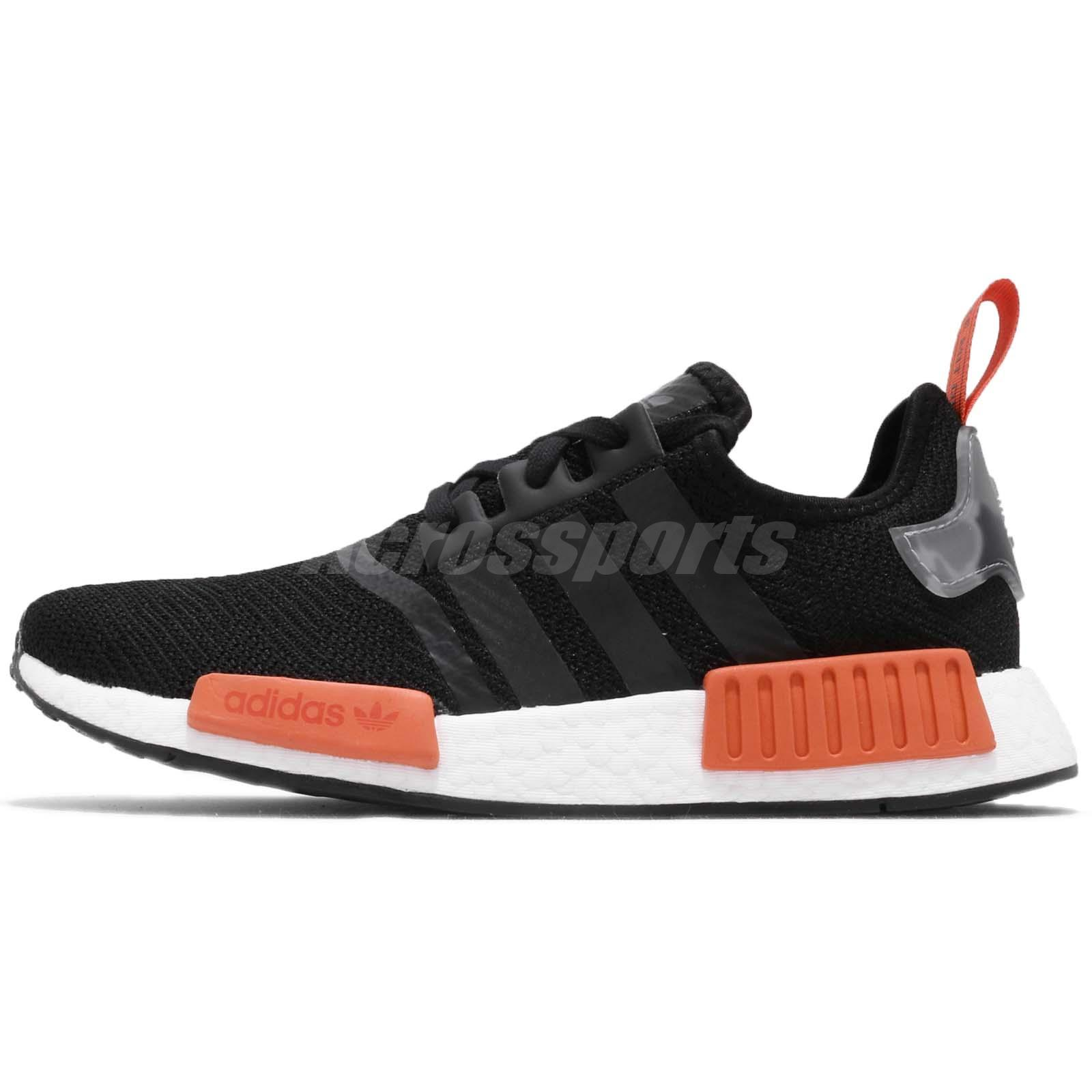 de7557b27 adidas Originals NMD R1 Boost Black Raw Amber Men Running Shoes Sneakers  AQ0882