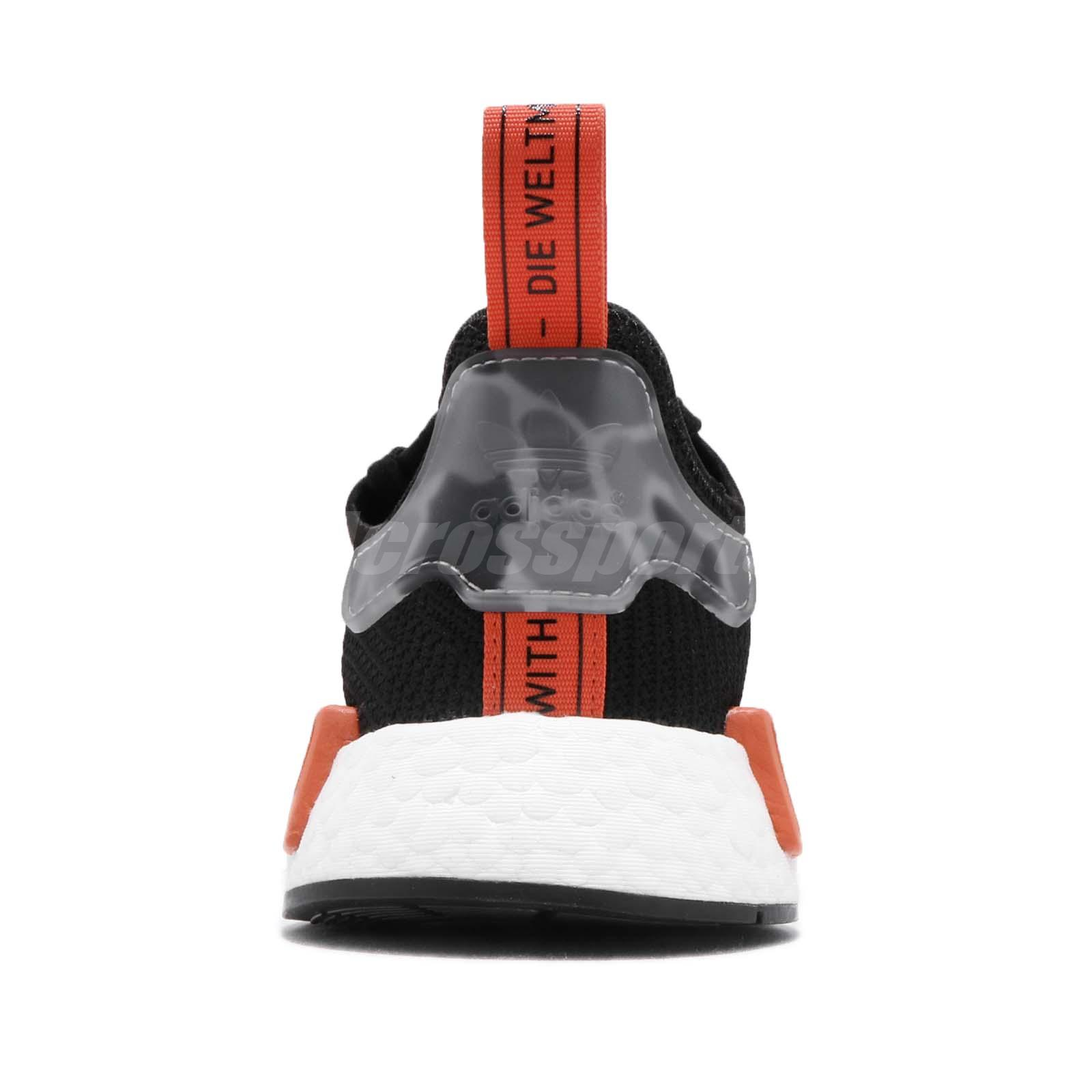 ce9ef6b2f adidas Originals NMD R1 Boost Black Raw Amber Men Running Shoes ...