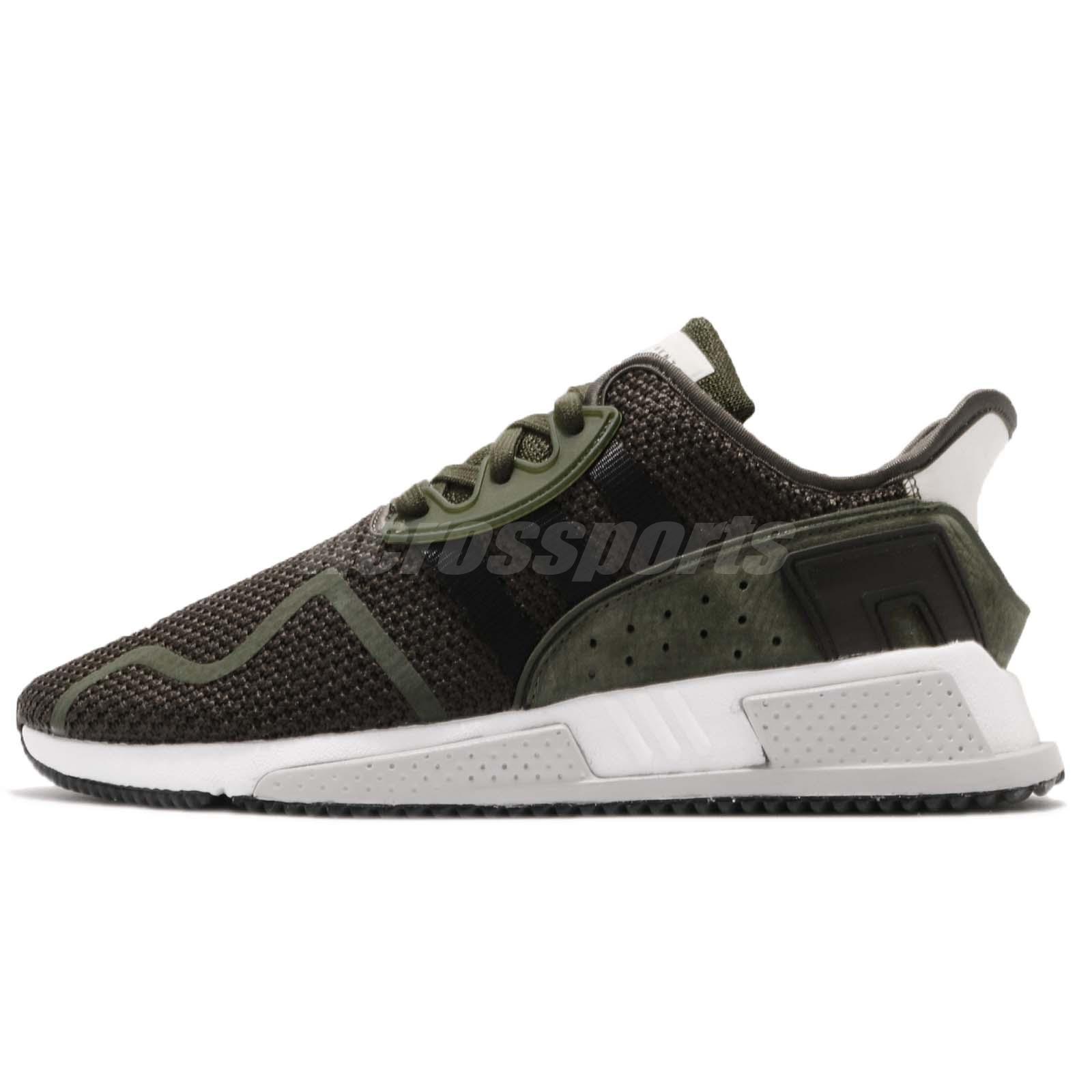 cheap for discount c864a 77769 adidas Originals EQT Cushion ADV Cargo Green Black Mens Running Shoes AQ0960