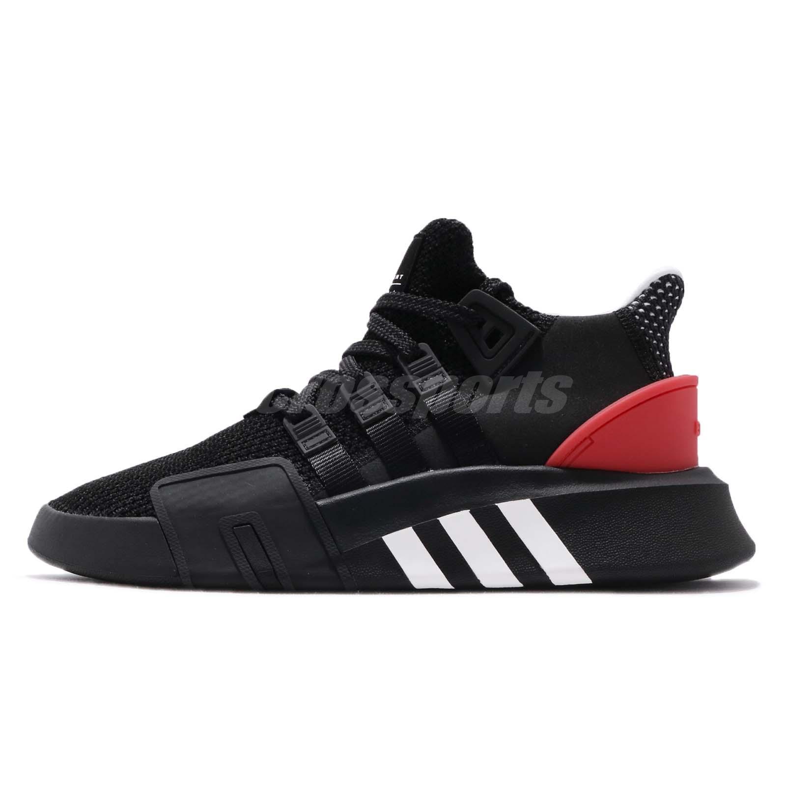 a2bab522fb6 adidas Originals EQT Bask ADV Black White Hi-Res Red Men Running Shoes  AQ1013
