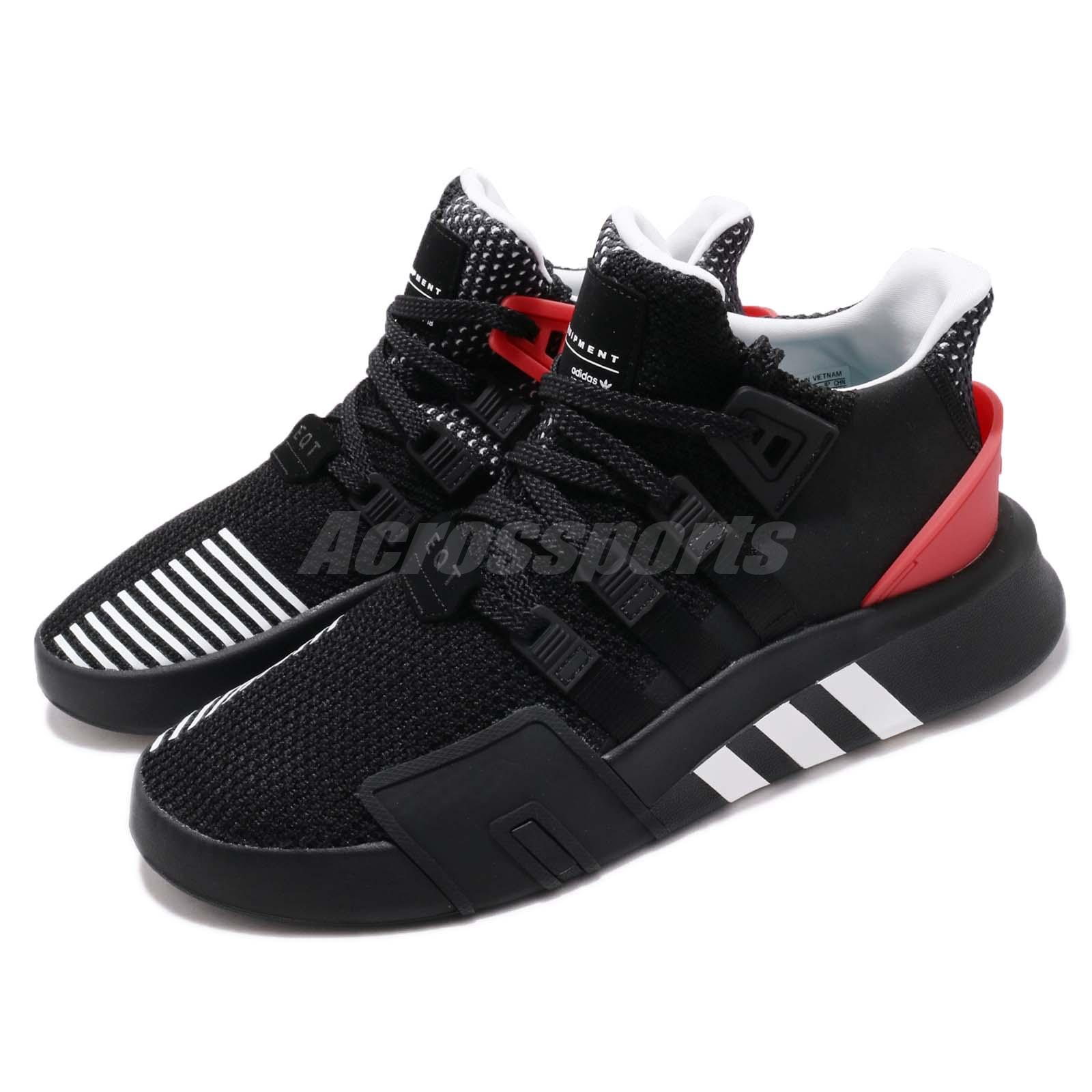 more photos 6a339 3140d Details about adidas Originals EQT Bask ADV Black White Hi-Res Red Men  Running Shoes AQ1013