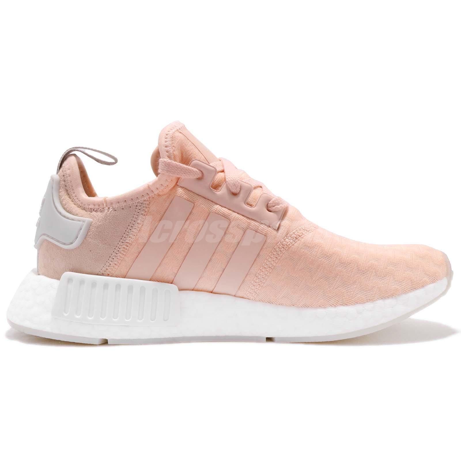 99cd6589f adidas Originals NMD R1 W Boost Pink White Women Shoes Sneakers ...
