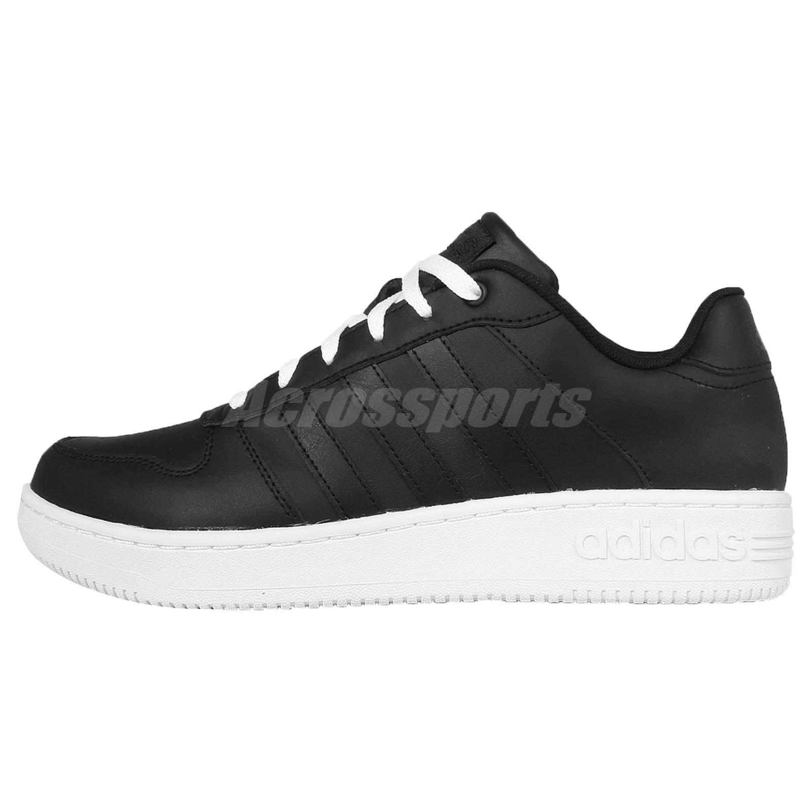 adidas neo label team court black mens casual shoes. Black Bedroom Furniture Sets. Home Design Ideas