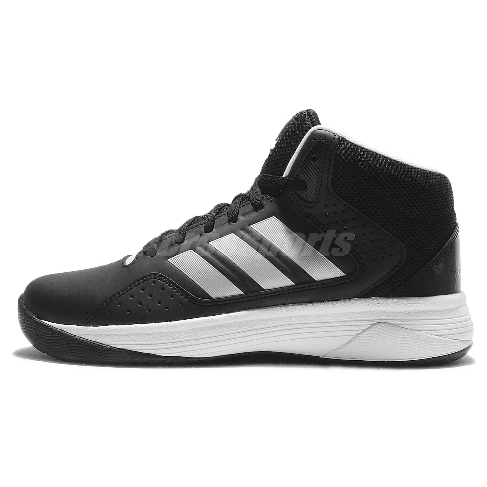 adidas basketball shoes white. adidas cloudfoam ilation mid black silver white mens basketball shoes aq1362 y