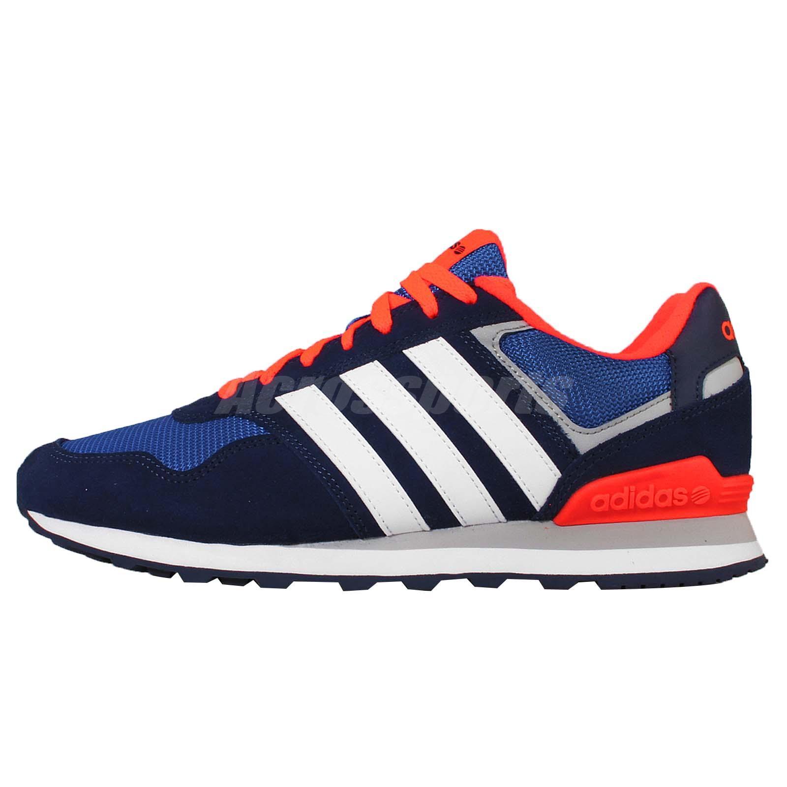adidas neo label 10k blue orange suede mens running shoes. Black Bedroom Furniture Sets. Home Design Ideas
