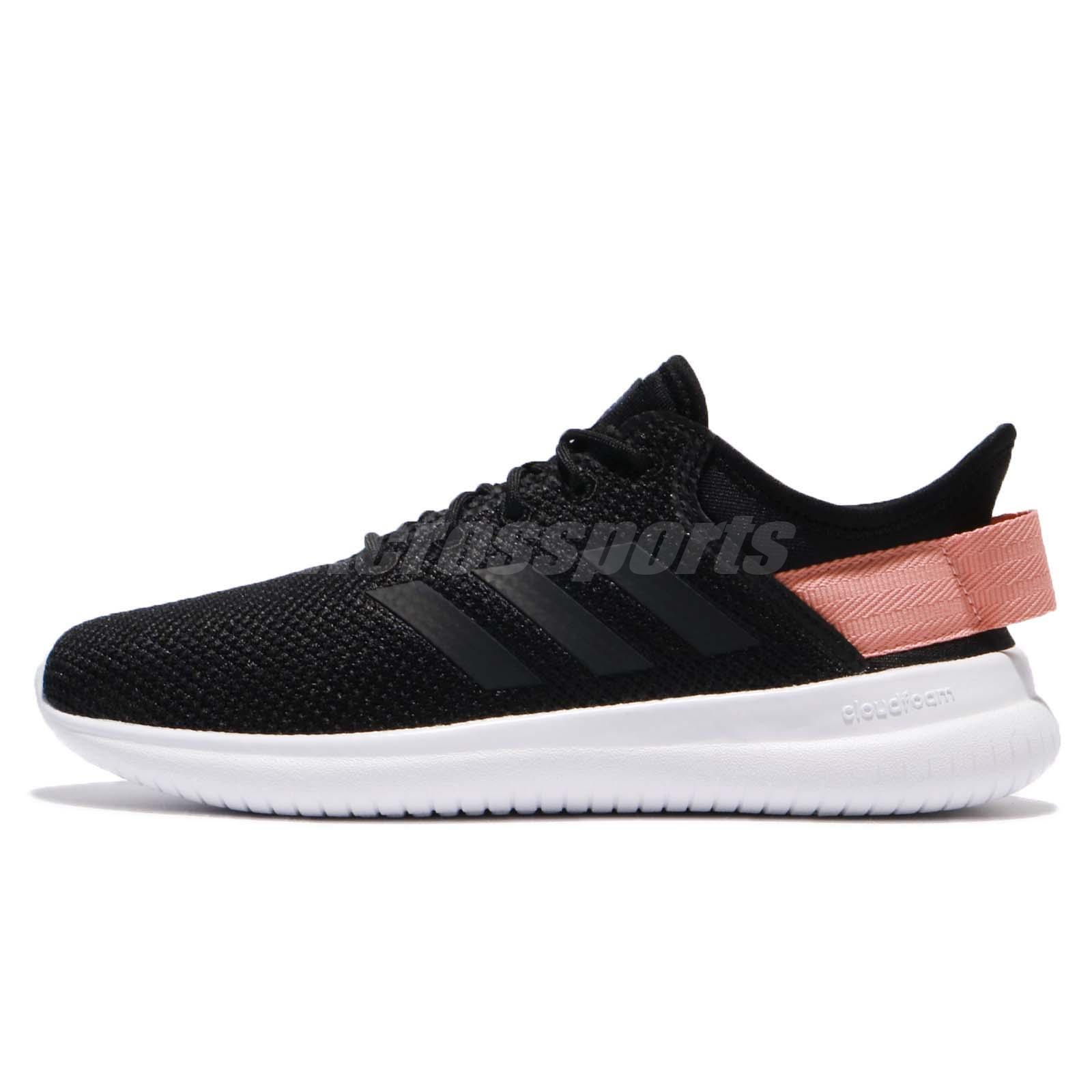 adidas Neo CF QTFlex W Mesh Black Trace Pink Women Running Shoes Sneakers  AQ1622