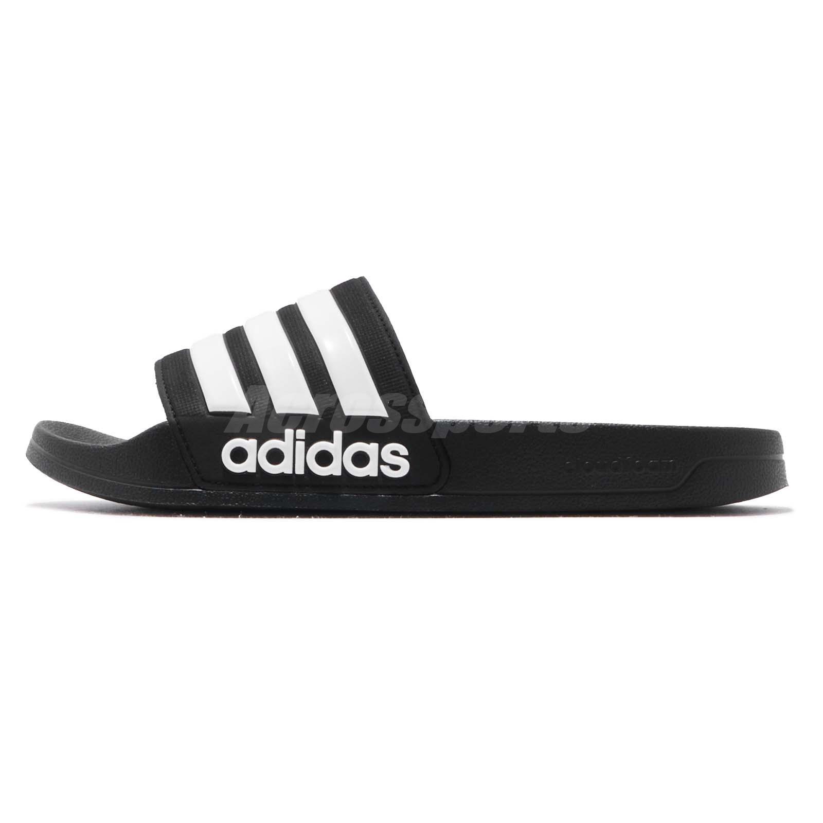 the best attitude 600f7 7b41e adidas Adilette Shower Black White Men Sports Sandals Slides Slippers AQ1701