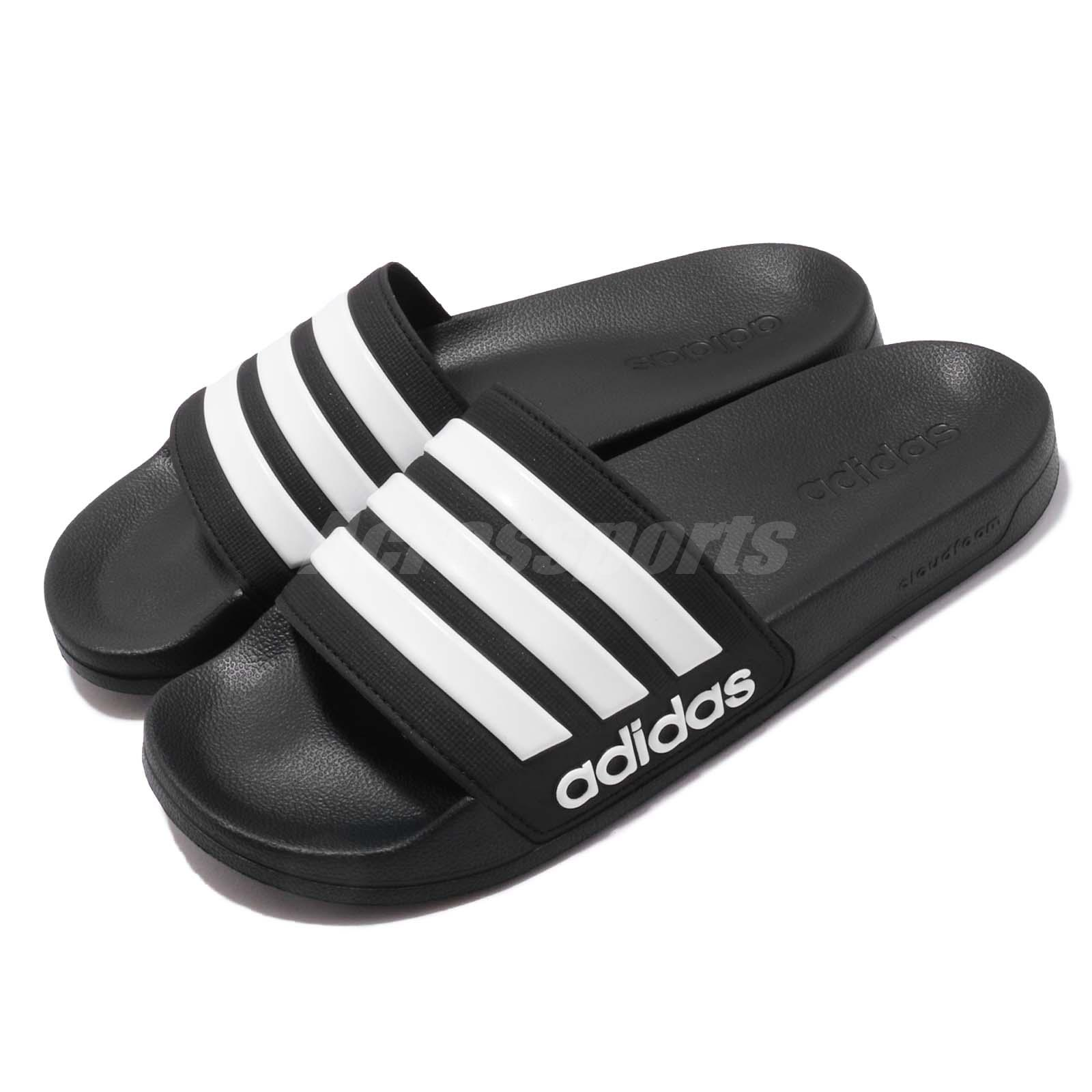 bfbbe53bb4c3 Details about adidas Adilette Shower Black White Men Sports Sandals Slides  Slippers AQ1701