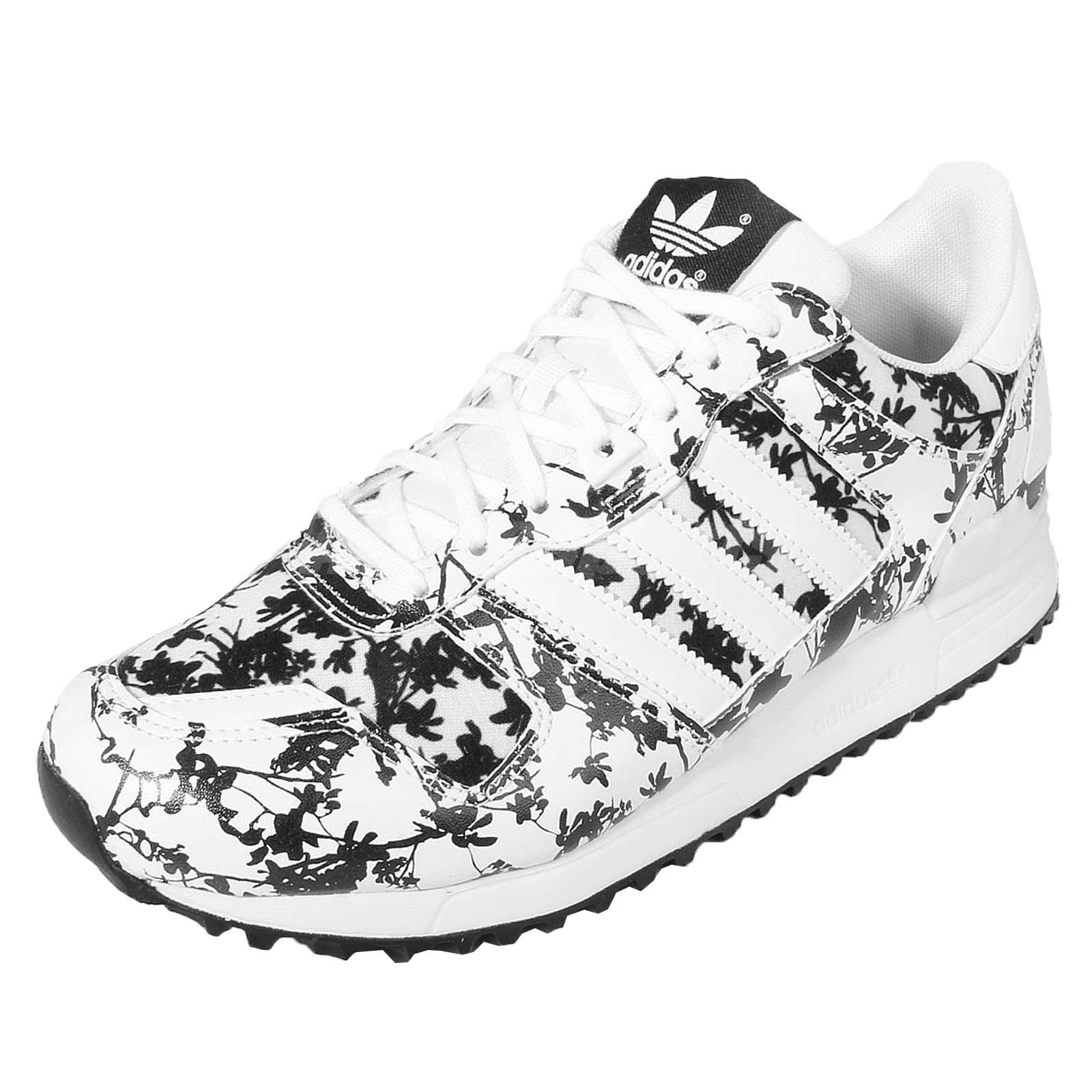 adidas Originals ZX 700 W Black White Palm Tree Womens Casual Shoes AQ3143