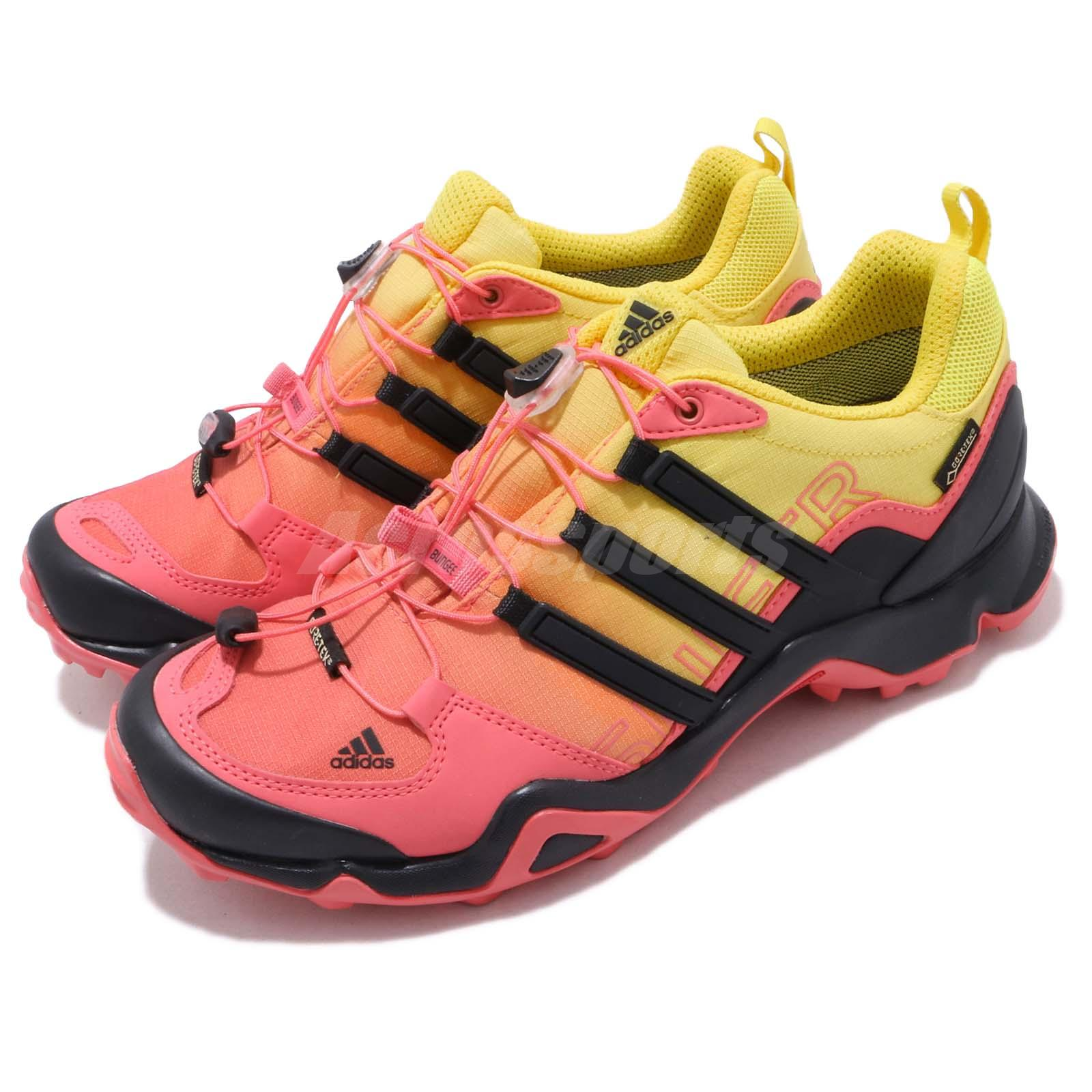 10bcb3085f7024 Details about adidas Terrex Swift R GTX W Gore-Tex Black Yellow Women  Outdoors Shoes AQ3983