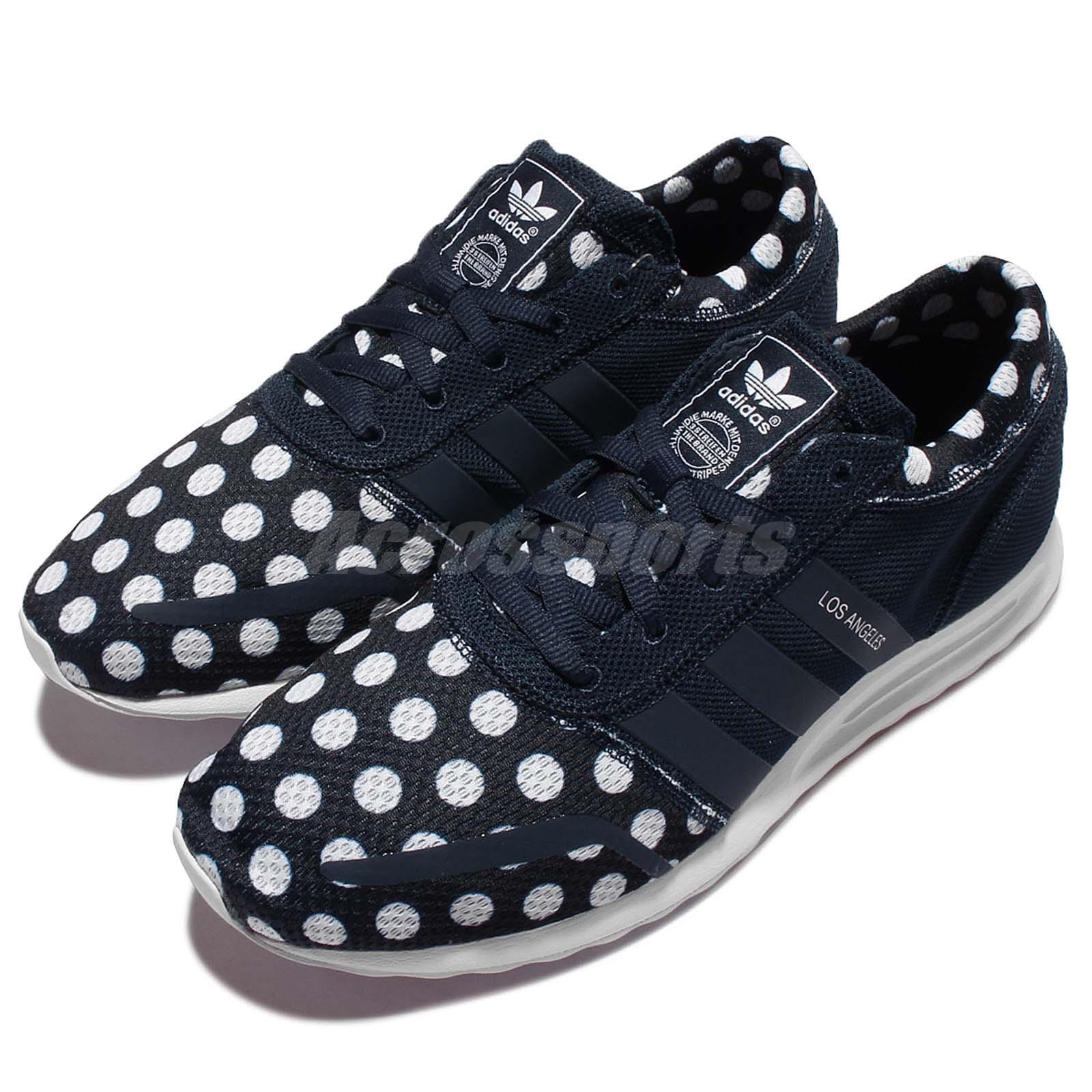 db3868a44b0 Details about adidas Originals Los Angeles Navy White Polka Dot Men Casual  Shoe Sneaker AQ4544