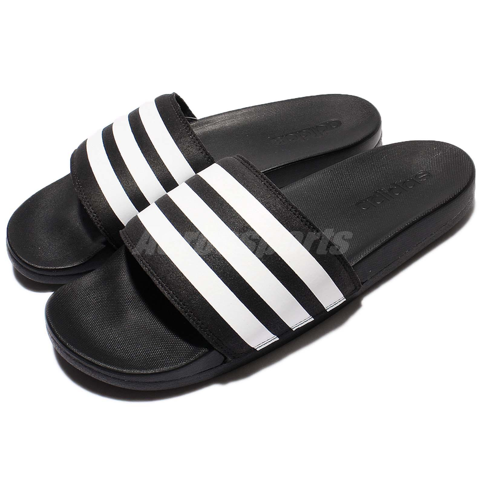 sale retailer c196c 00e80 Details about adidas Adilette CF Cloudfoam Plus Black White Men Sandal Slide  Slipper AQ4935