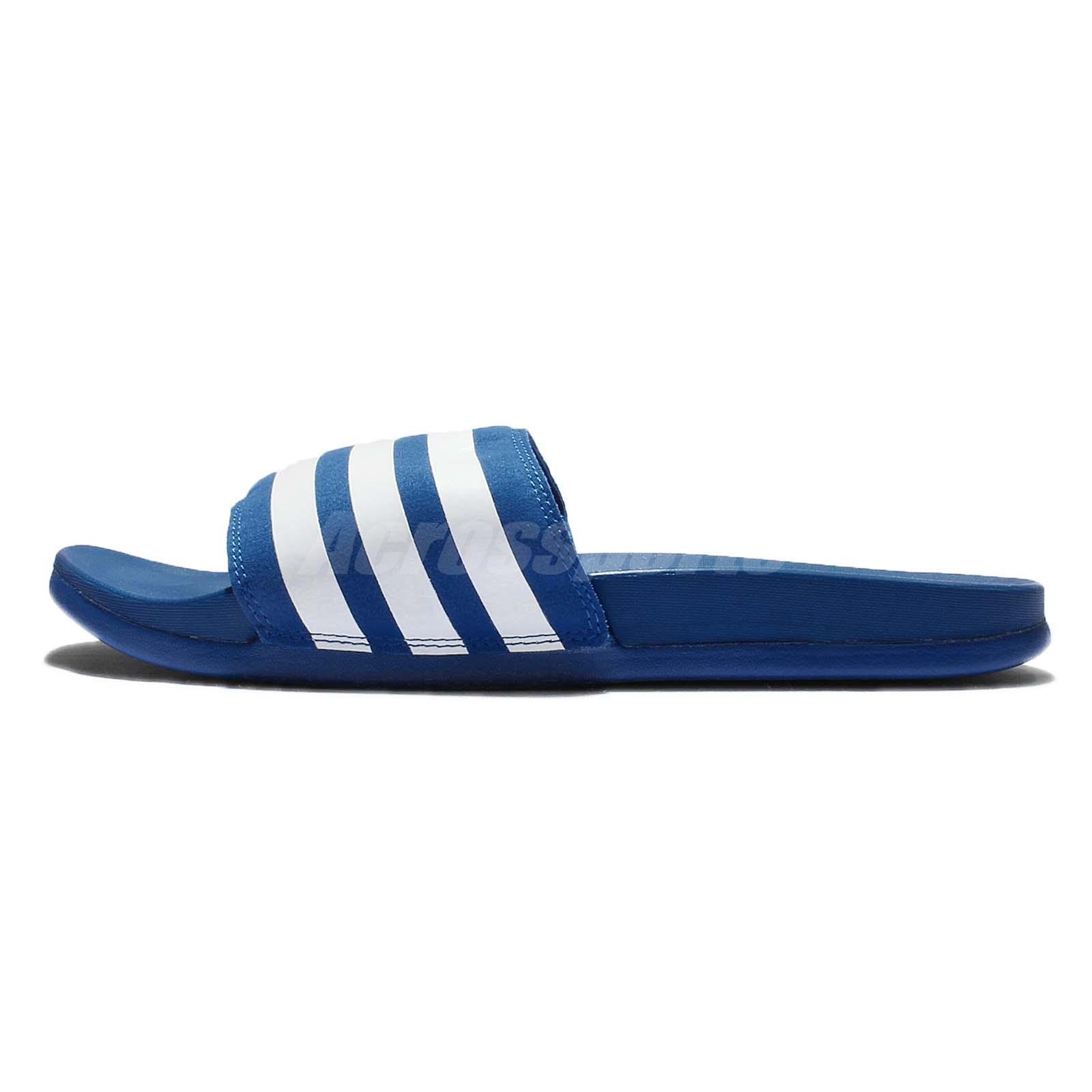 67aa11488c37 adidas Adilette CF Ultra Supercloud Plus Slides Blue White Mens Sandal  AQ4936
