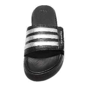 new york 5524d 8eac2 ... adidas Superstar 4G Black White Strap Men Sandal Slides Slippers AQ5893  ...