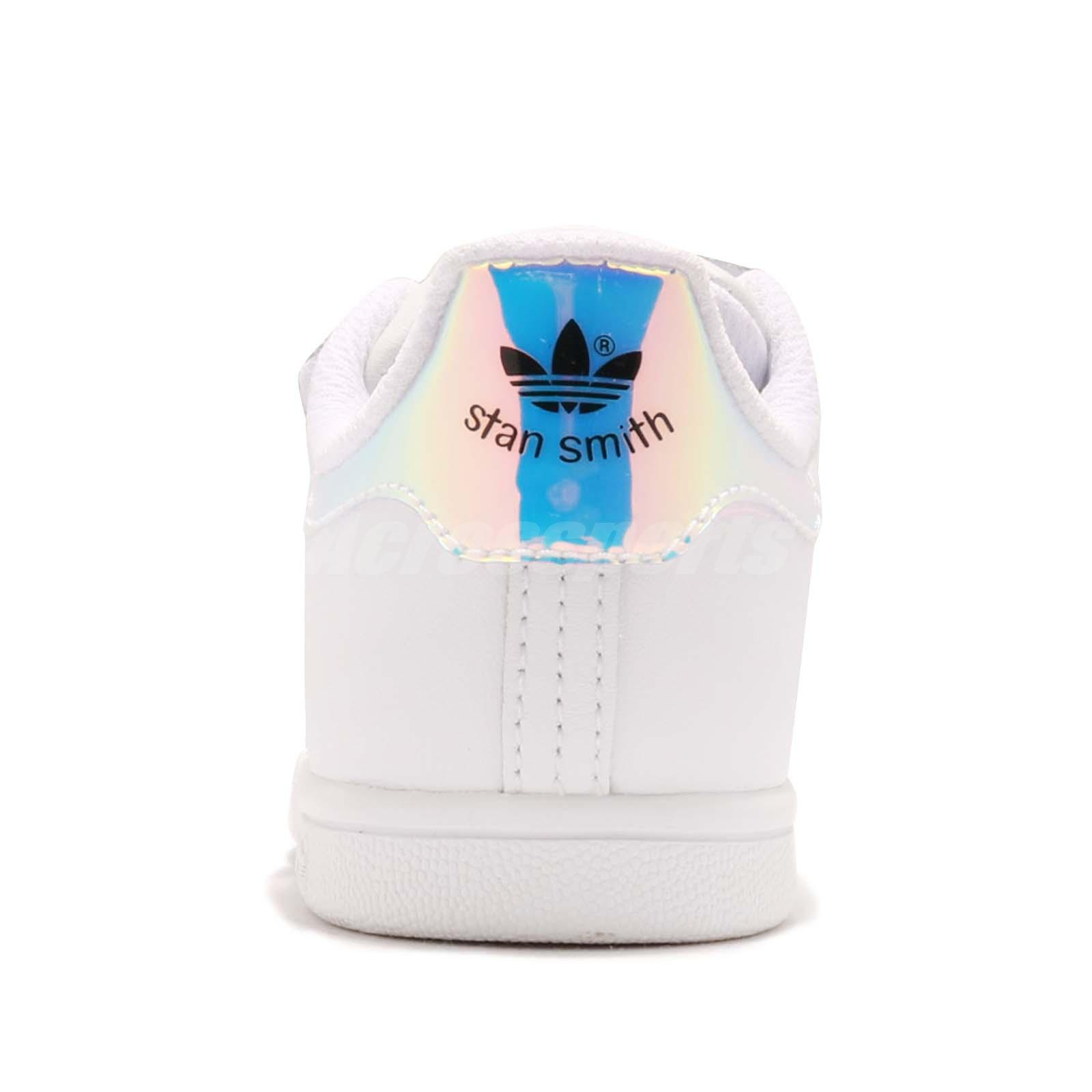 adidas Originals Stan Smith CF I Iridescent Hologram Toddler Infant . 9bca6e4f20