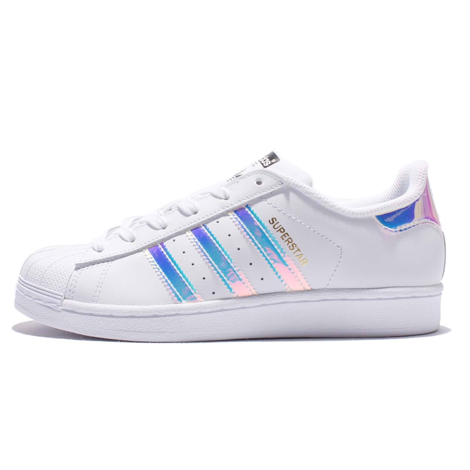 brand new 56761 e3bf4 adidas Originals Superstar J Iridescent Hologram Kid Junior Classic Shoes  AQ6278