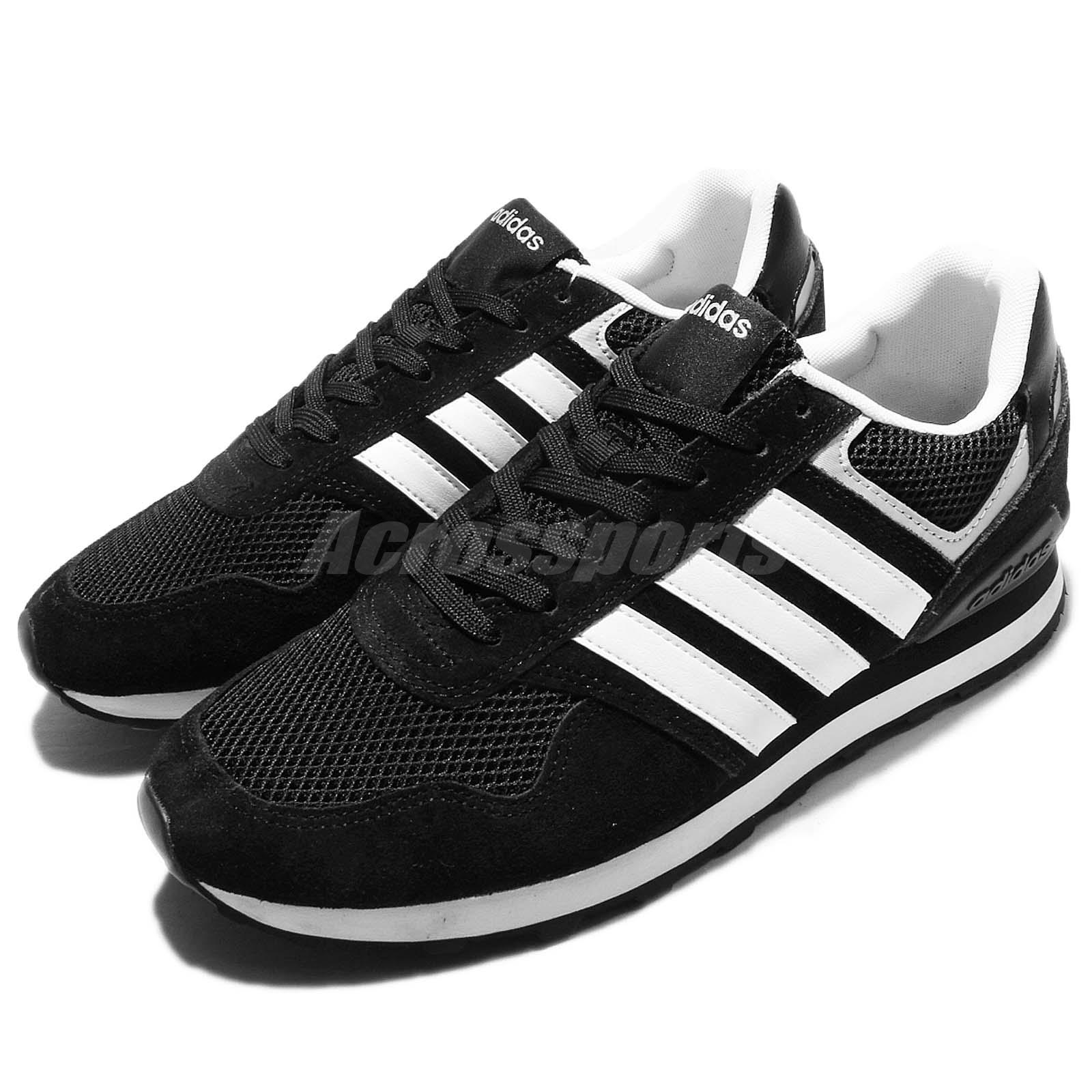 adidas neo label 10k black white suede mens casual shoes. Black Bedroom Furniture Sets. Home Design Ideas