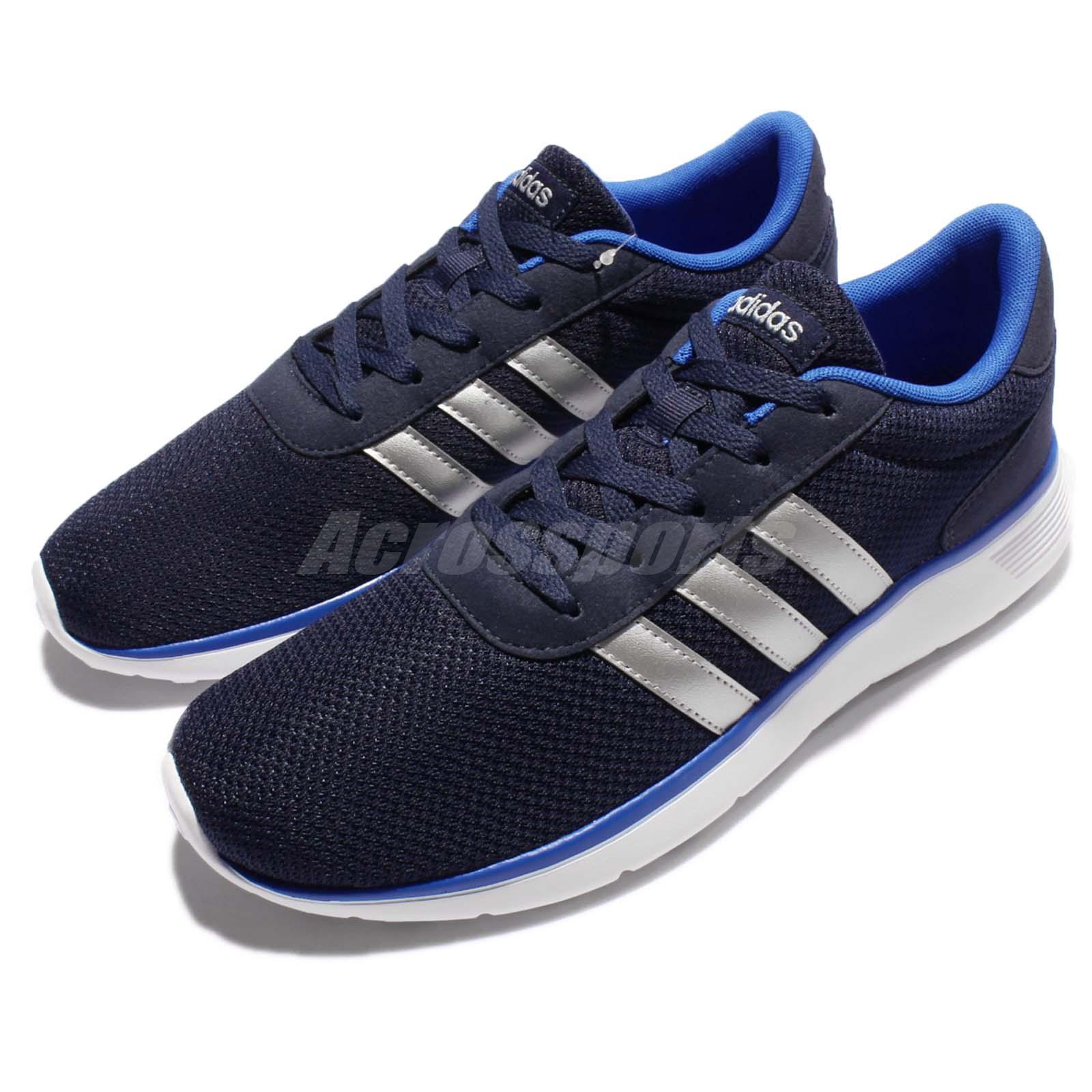 adidas neo label lite racer black silver blue men running. Black Bedroom Furniture Sets. Home Design Ideas