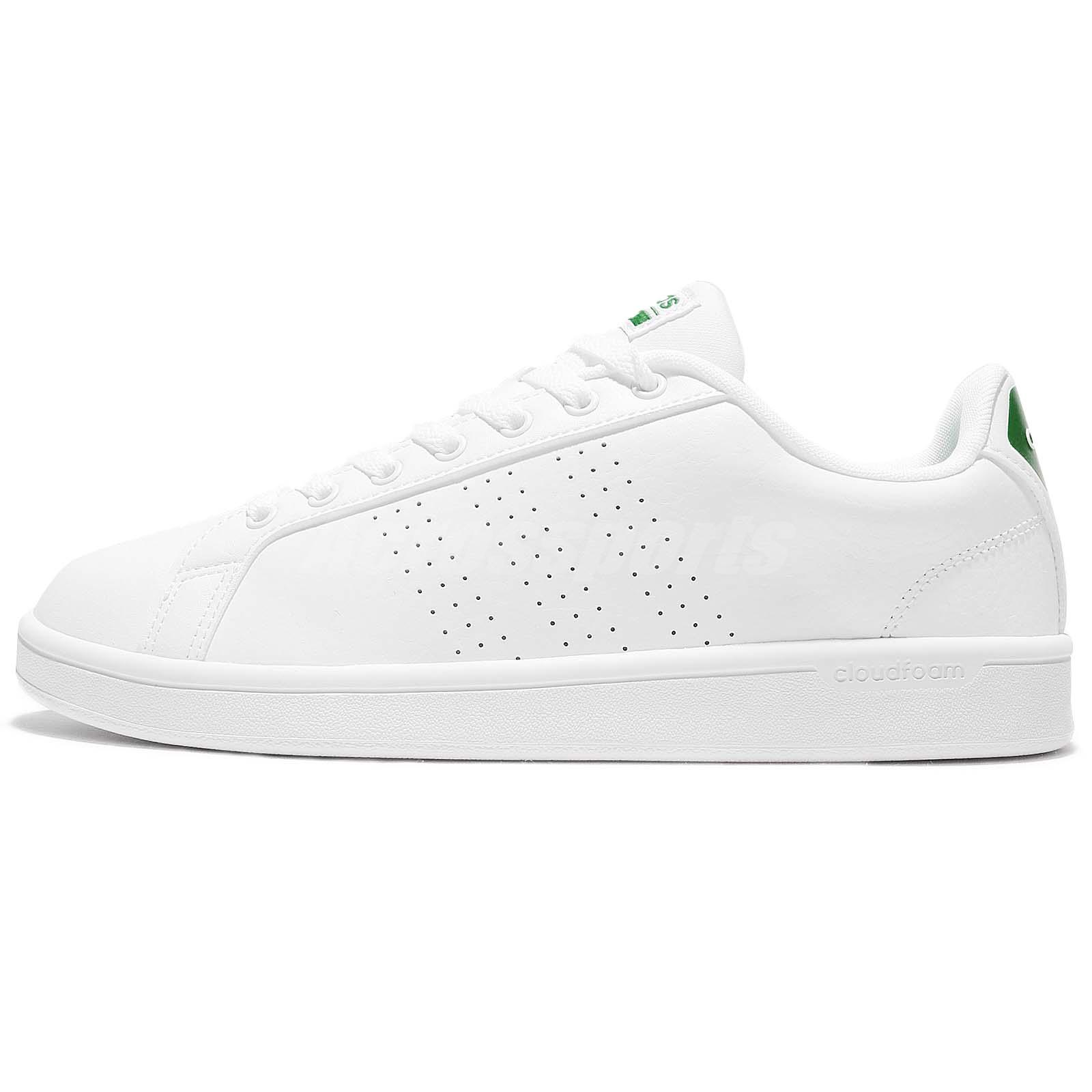 the latest 882ec f2b93 ... sweden adidas neo cloudfoam advantage clean white green leather men shoe  sneaker aw3914 b3be9 c2adc