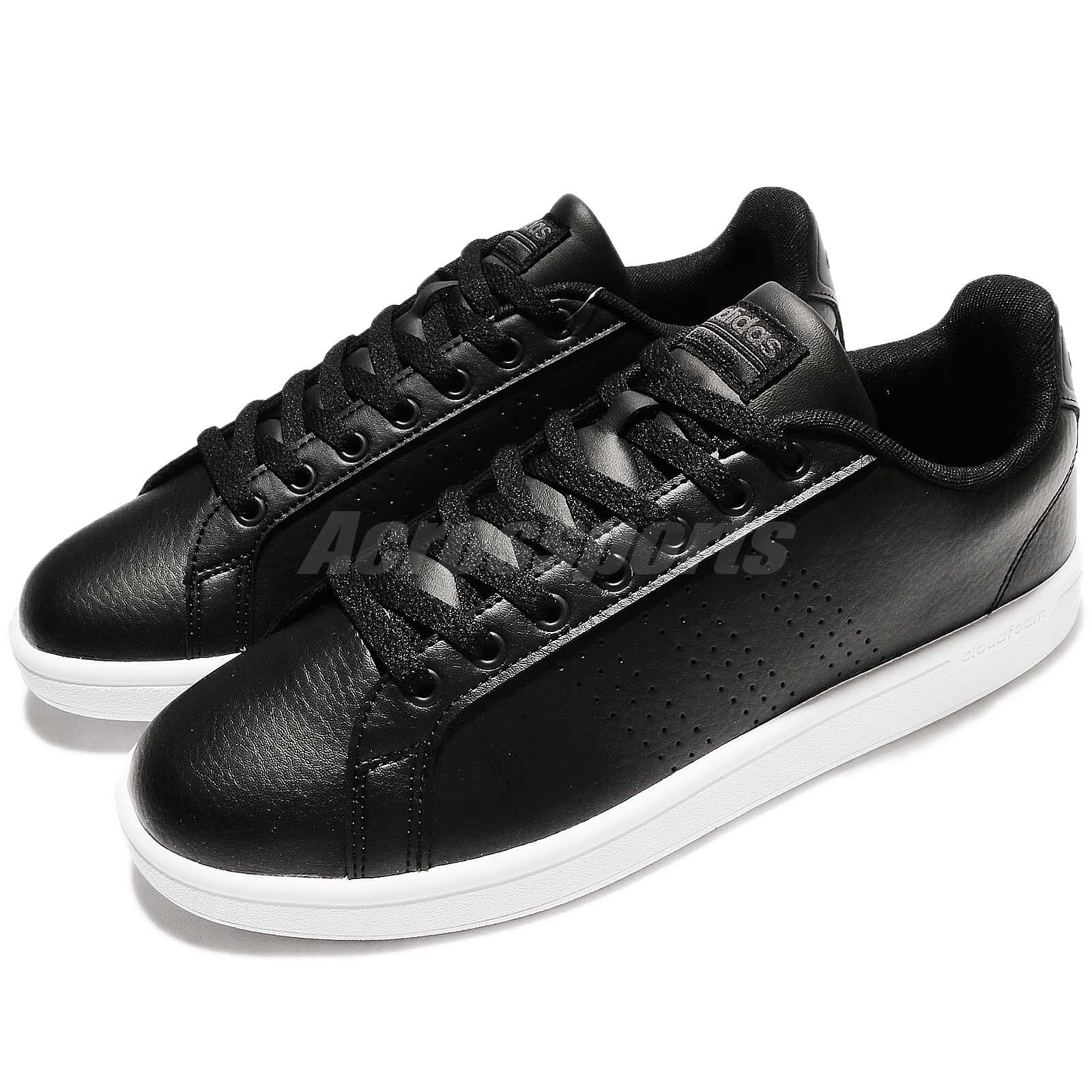 buy online 593f6 6f961 Details about adidas Neo Cloudfoam Advantage Clean Black White Leather Men  Shoe Sneaker AW3915