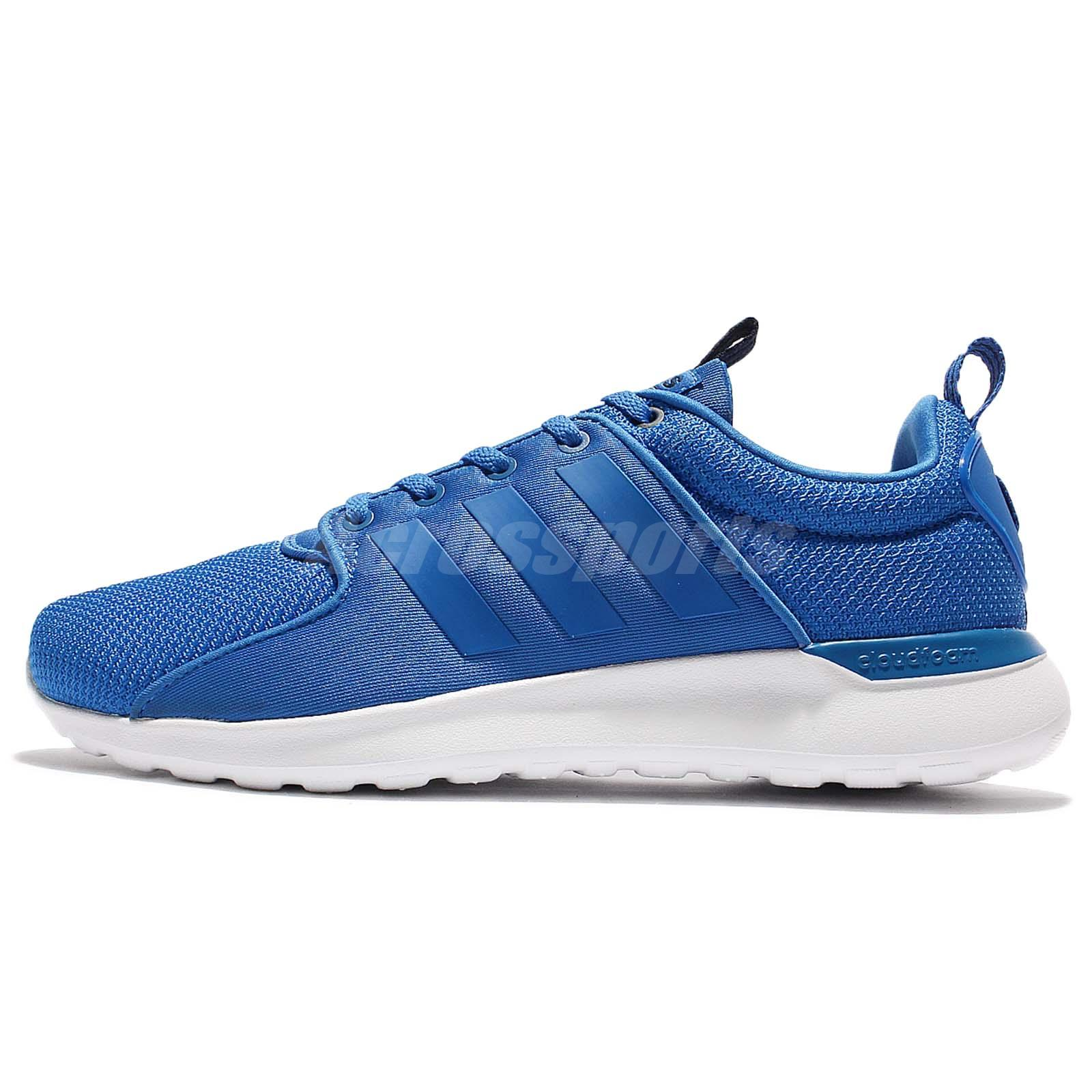 adidas Neo Cloudfoam Lite Racer Blue White Men Running Shoes Sneakers AW4028