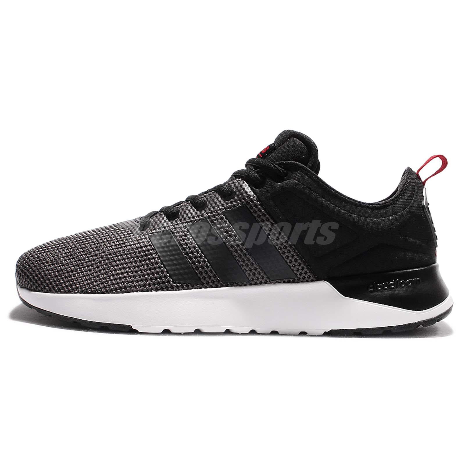 best loved 28b8b fc0a8 ... 10k runeo label f97807 navy chaussures prix de lancement adidas 930a5  d1874  ebay adidas neo label cloudfoam super racer black grey mens running  shoes ...