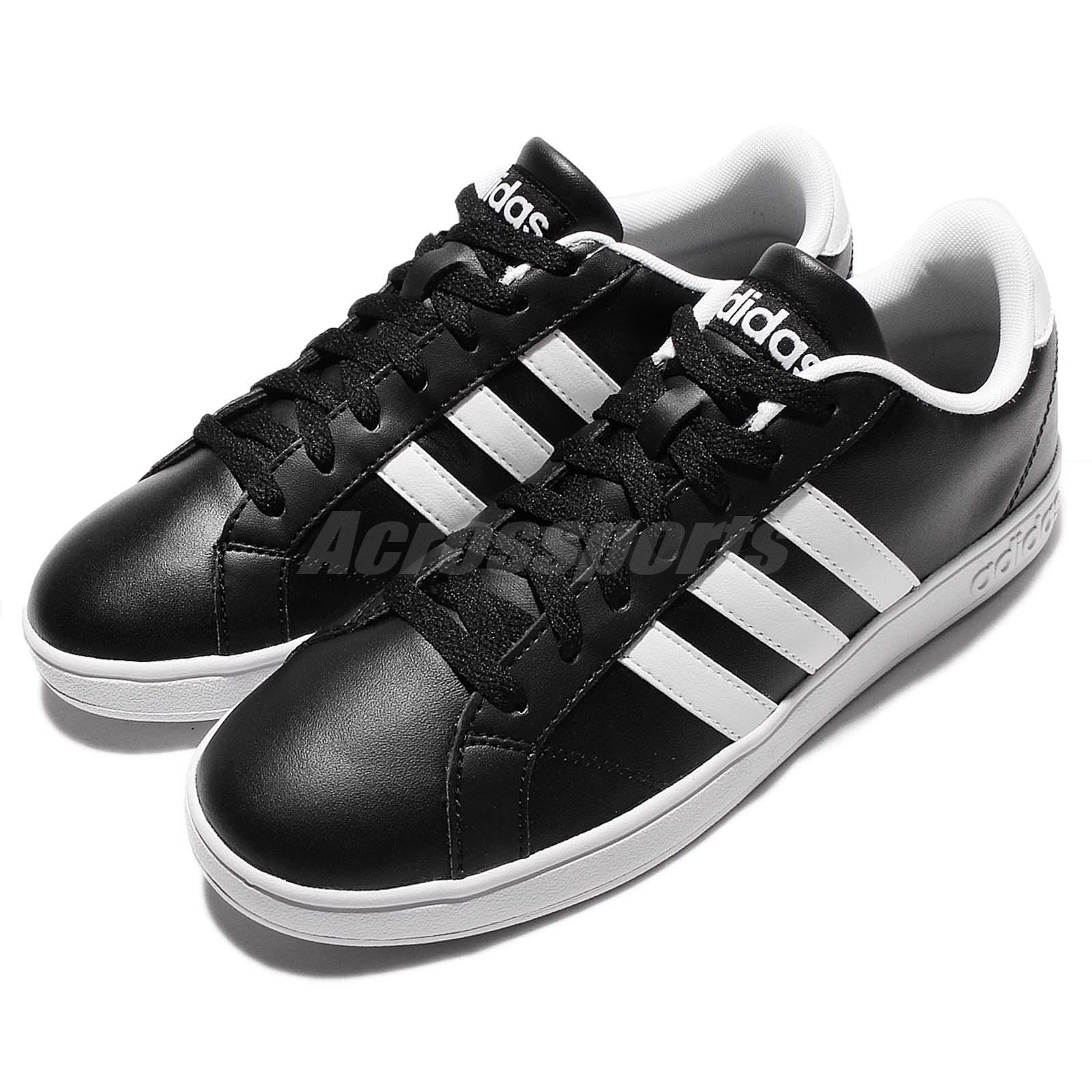 adidas neo label baseline black white mens casual shoes. Black Bedroom Furniture Sets. Home Design Ideas