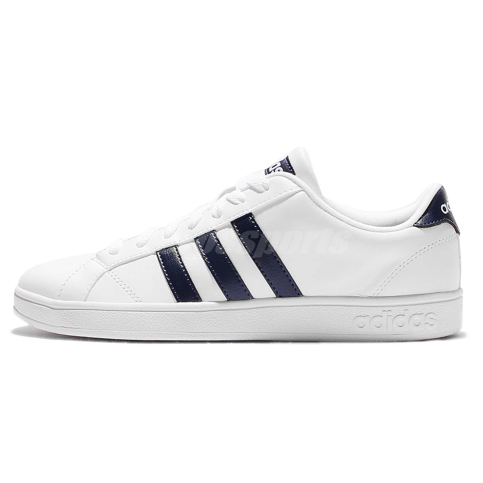 adidas neo label baseline white navy mens casual shoes. Black Bedroom Furniture Sets. Home Design Ideas