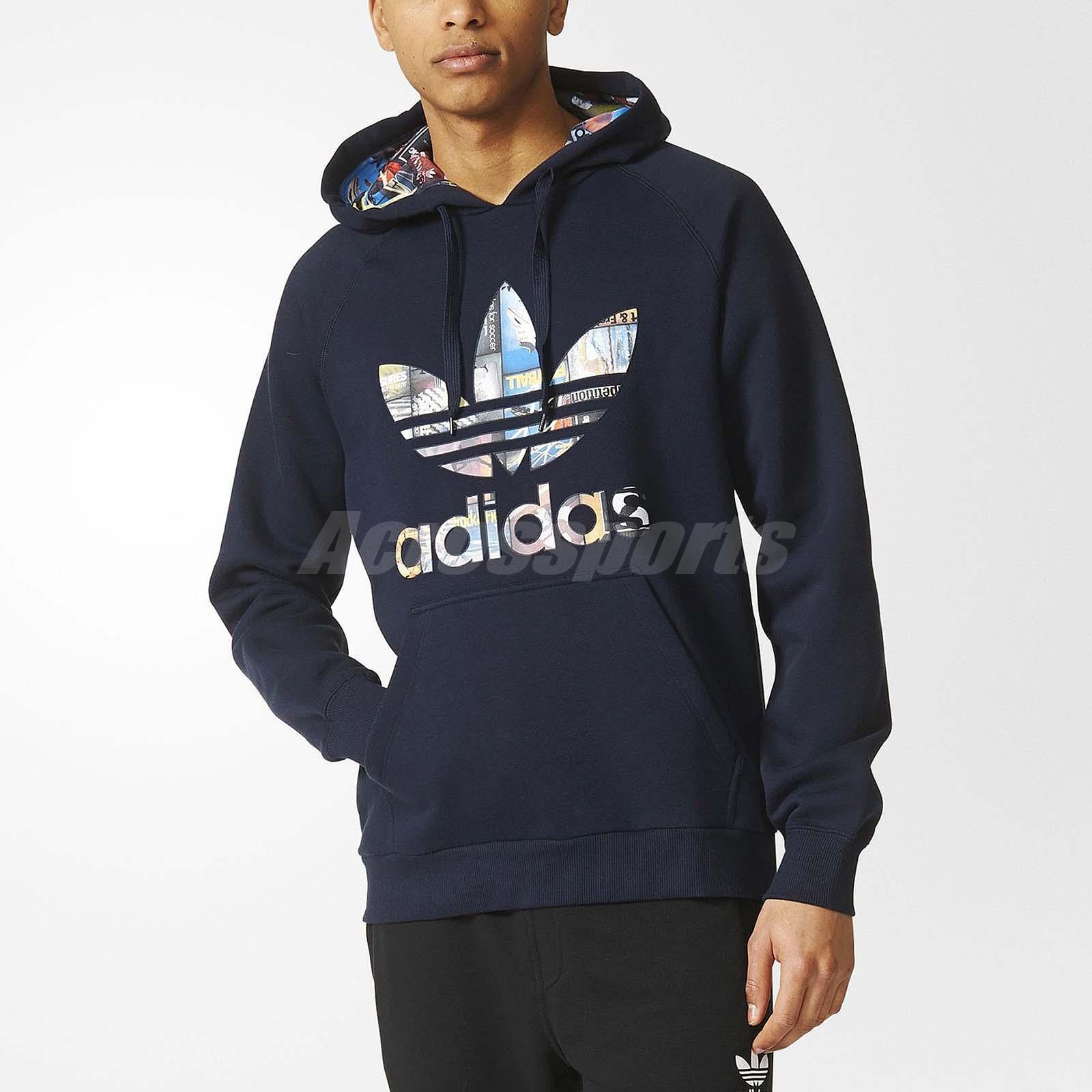 adidas originals men back to school hoodie pullover navy. Black Bedroom Furniture Sets. Home Design Ideas